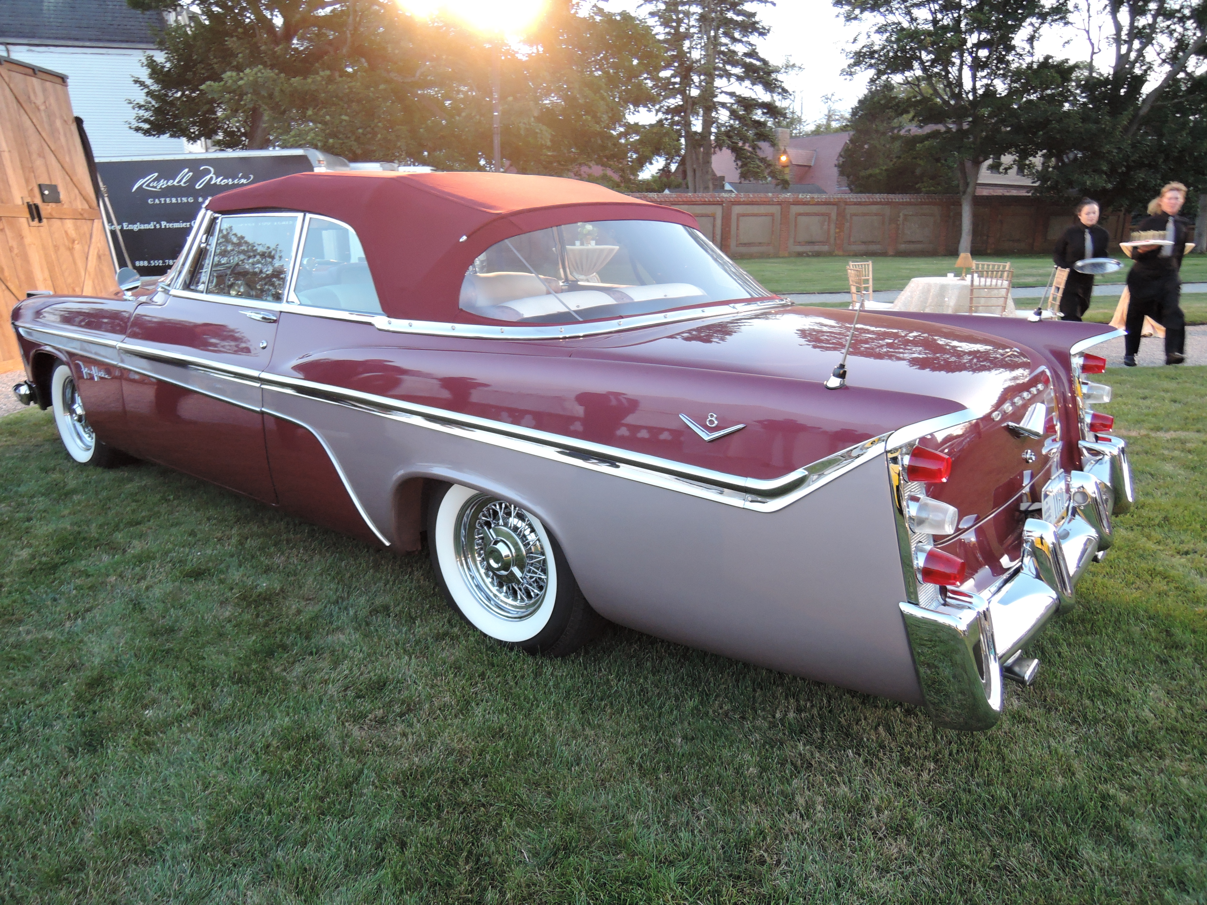 red 1956 DeSoto Fireflite - Audrain Auto Museum Gala 2017