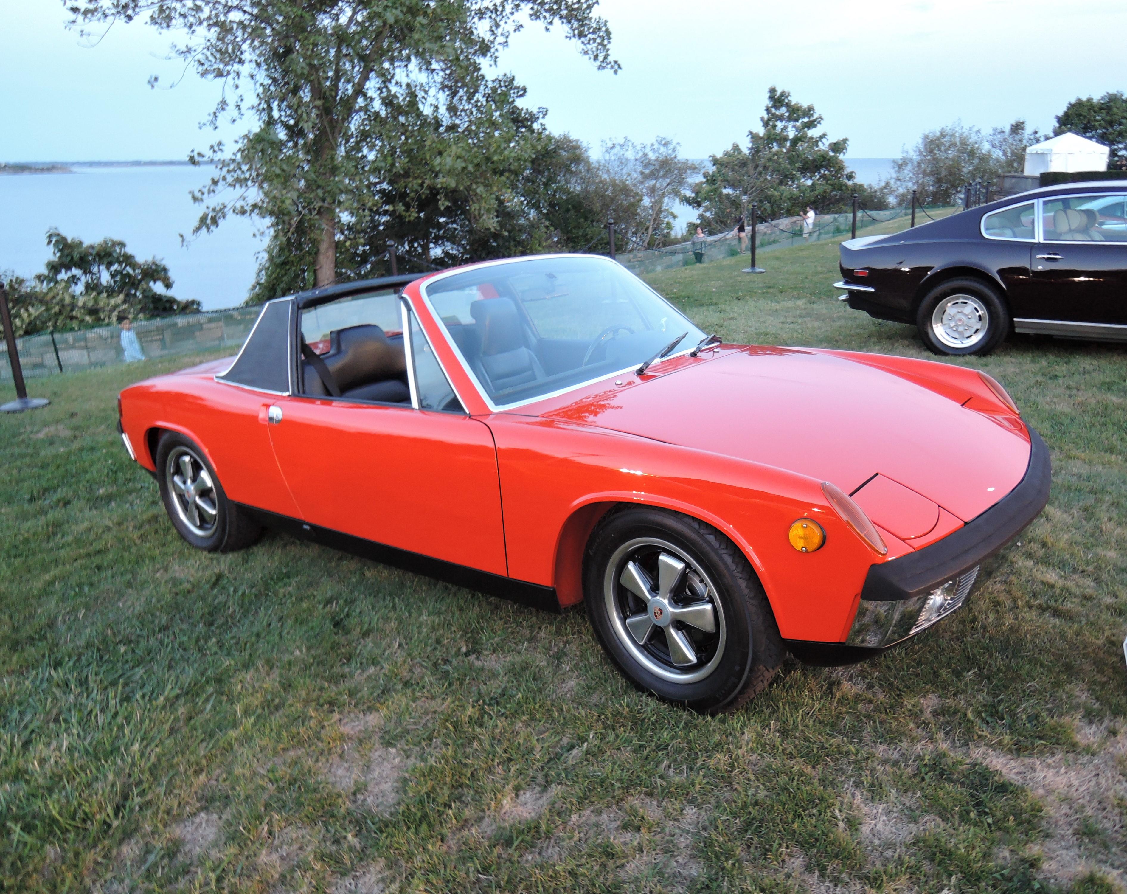 blood orange tangerine 1971 Porsche 914-6 Targa - Audrain Auto Museum Gala 2017