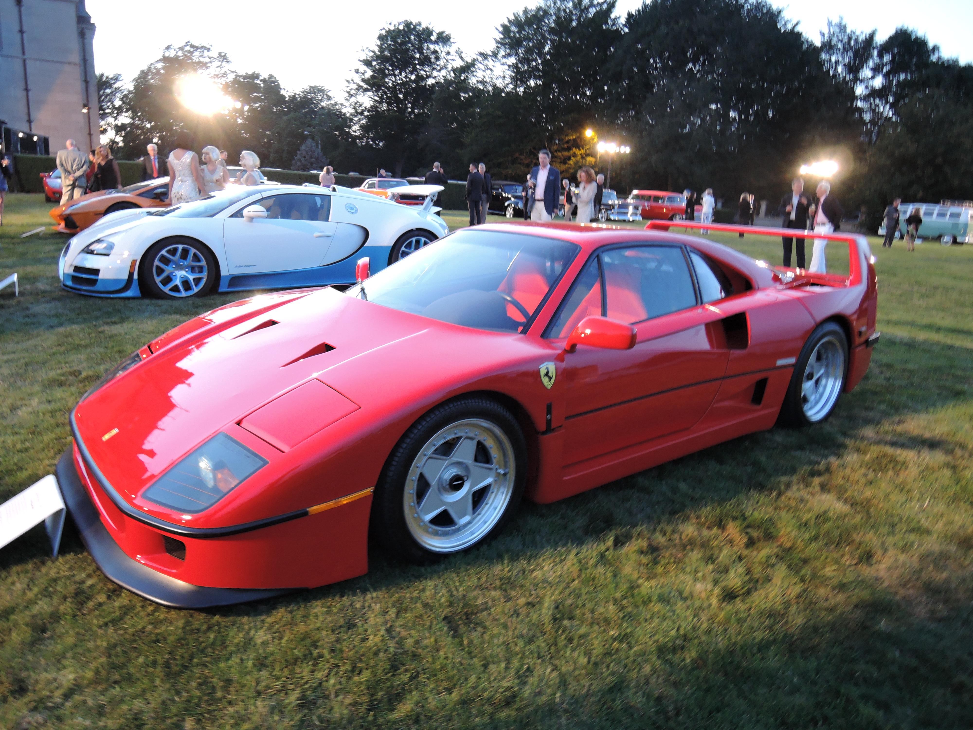 red 1991 Ferrari F40 - Audrain Auto Museum Gala 2017