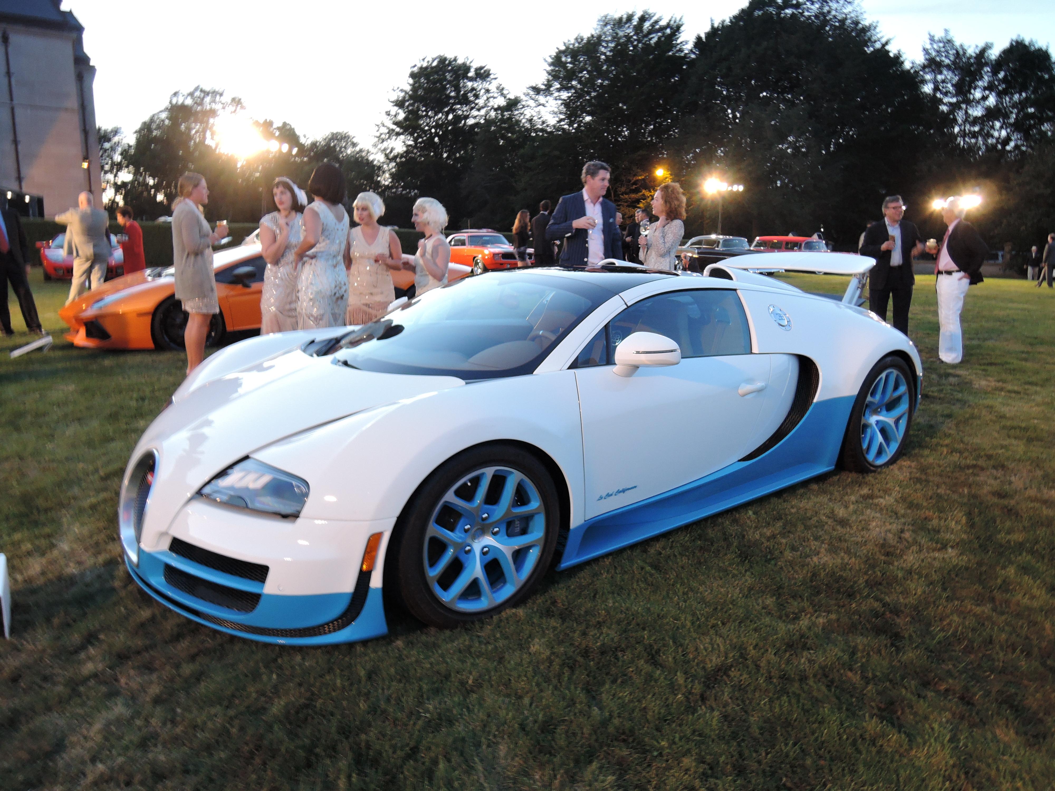 white/blue 2013 Bugatti Veyron 16.4L Grand Sport Vitesse - Audrain Auto Museum Gala 2017
