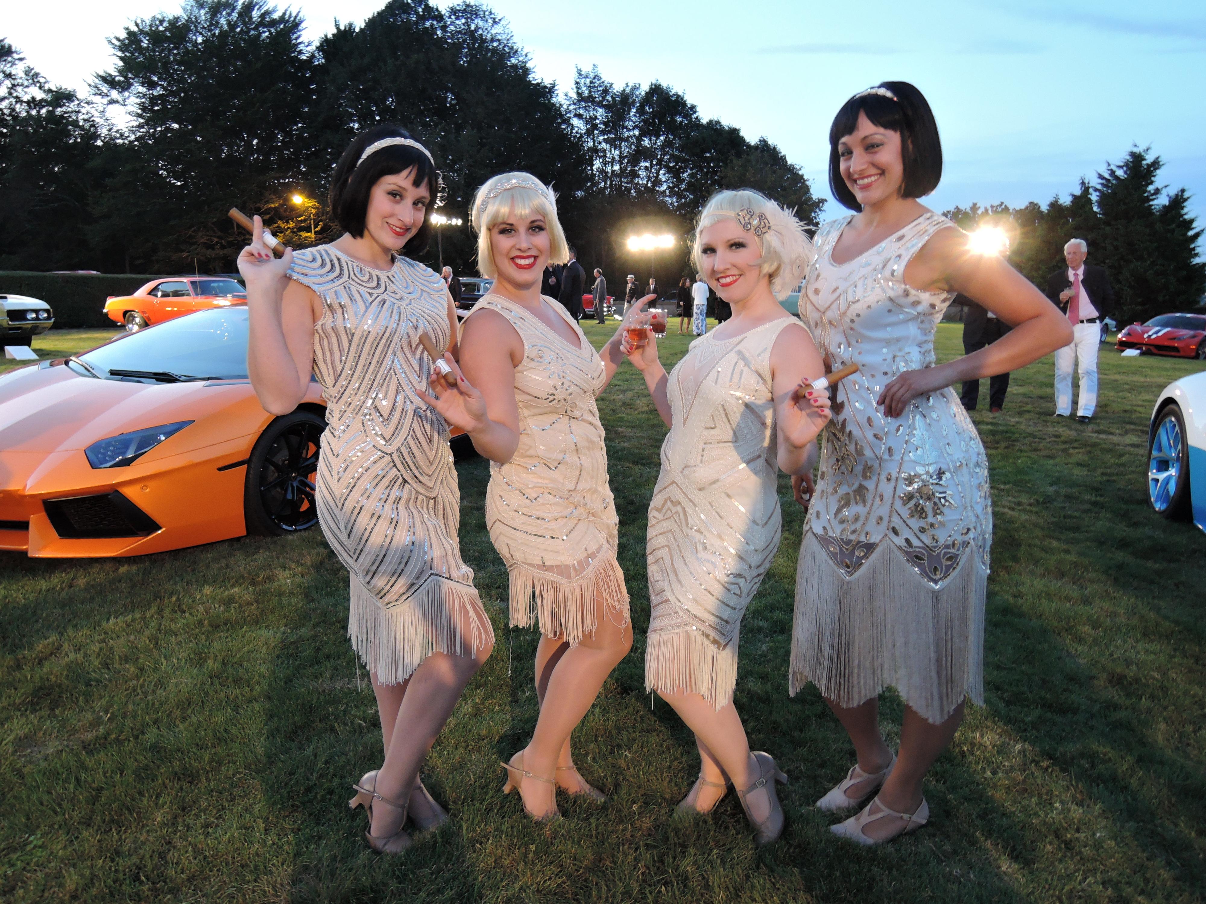 flapper girls - Audrain Auto Museum Gala 2017