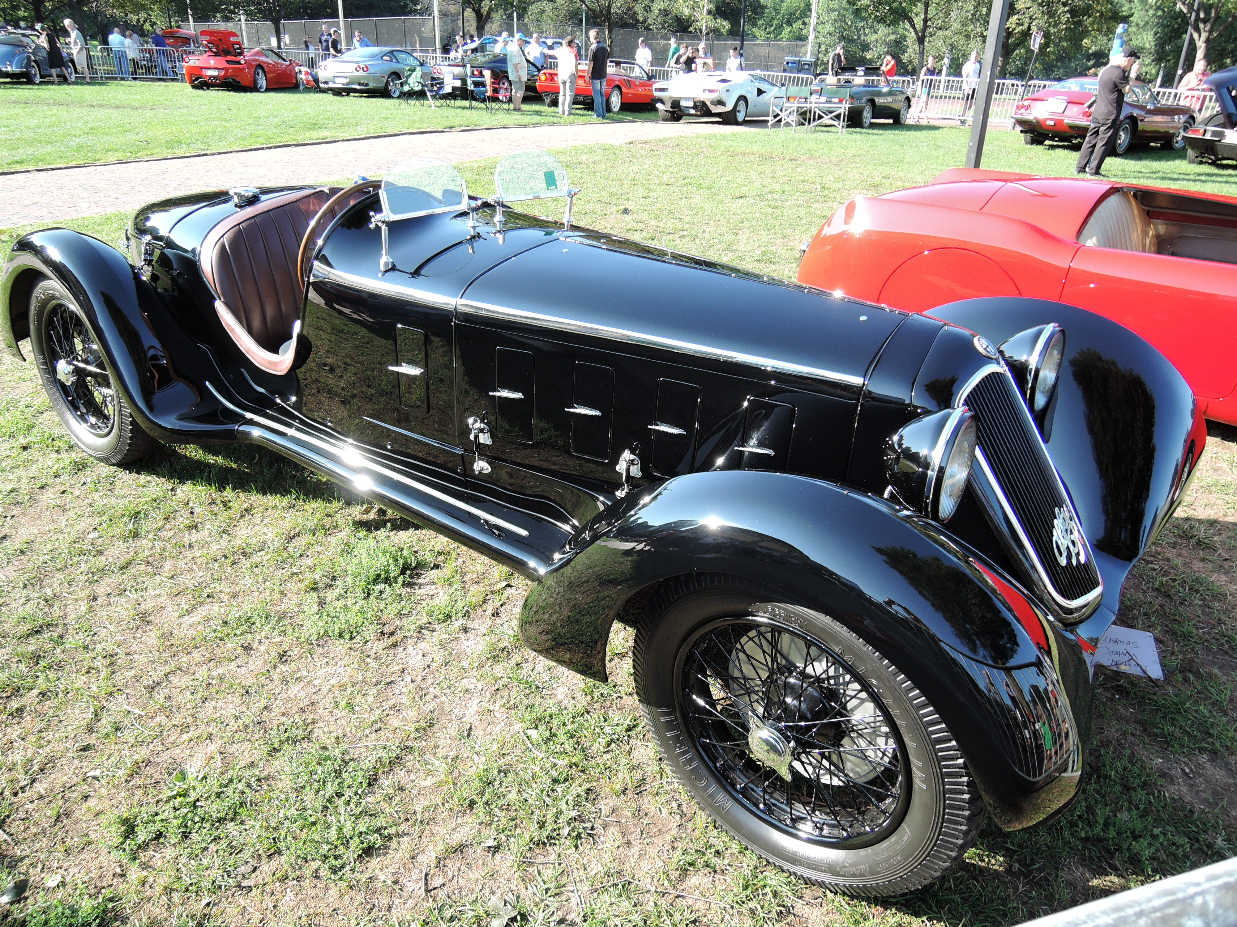 black 1929 Alfa Romeo 6C 1750 SS - The Boston Cup 2017