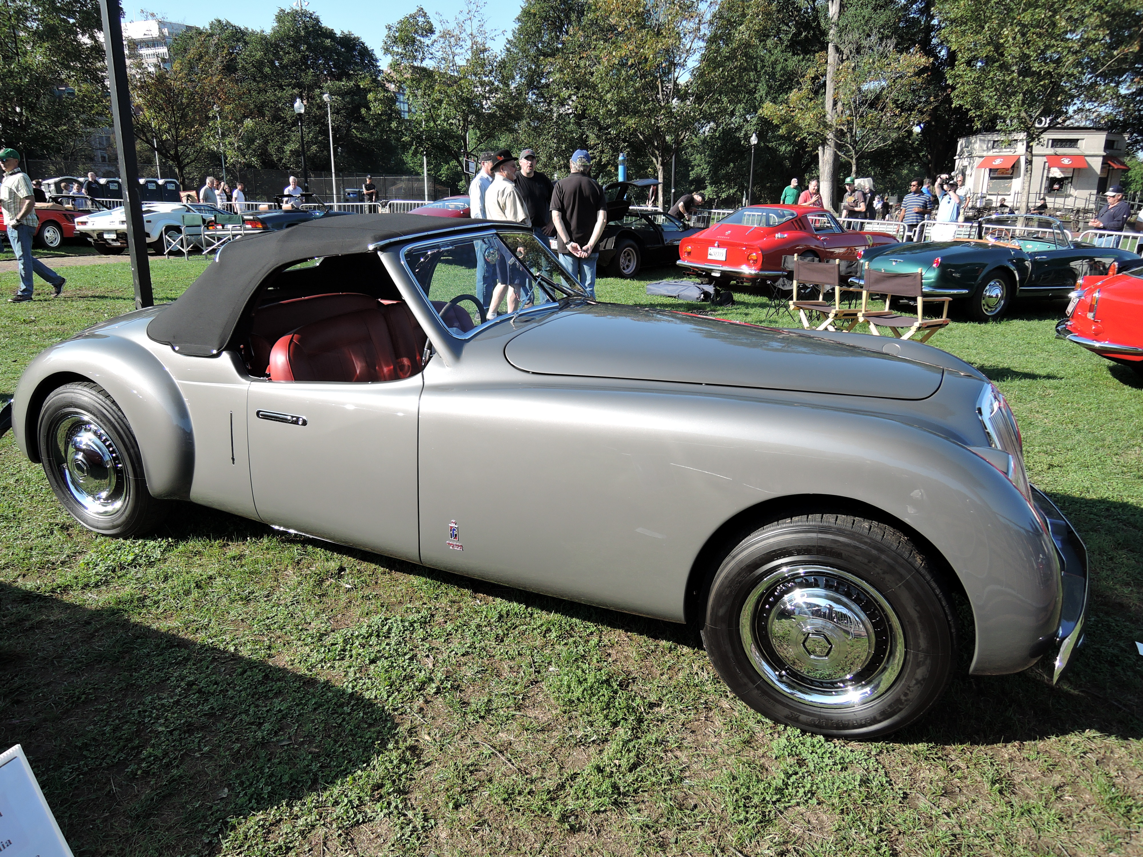 silver 1948 Lancia Pininfarina Speciale - The Boston Cup 2017
