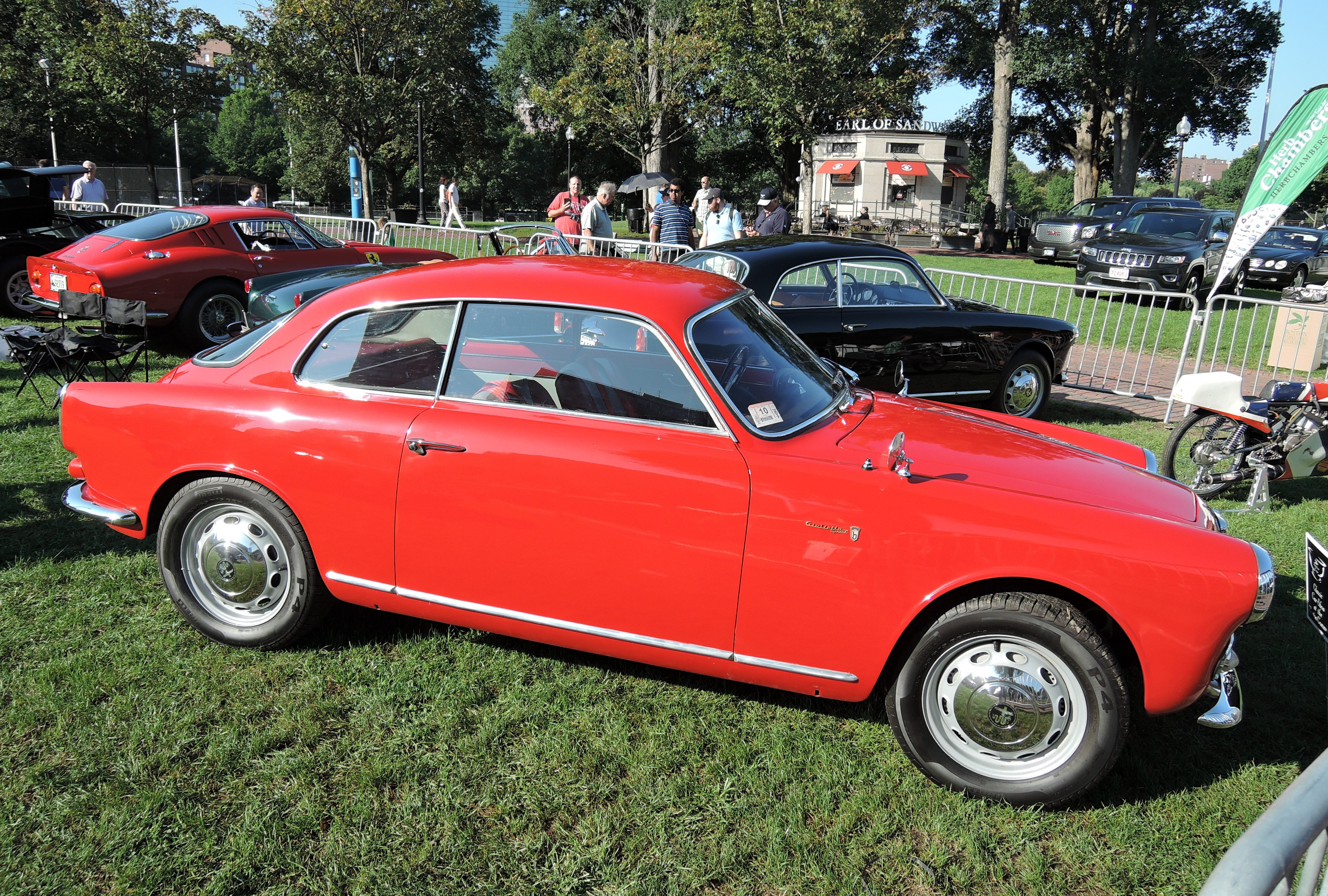 red 1959 Alfa Romeo Giulietta 750 Sprint - The Boston Cup 2017