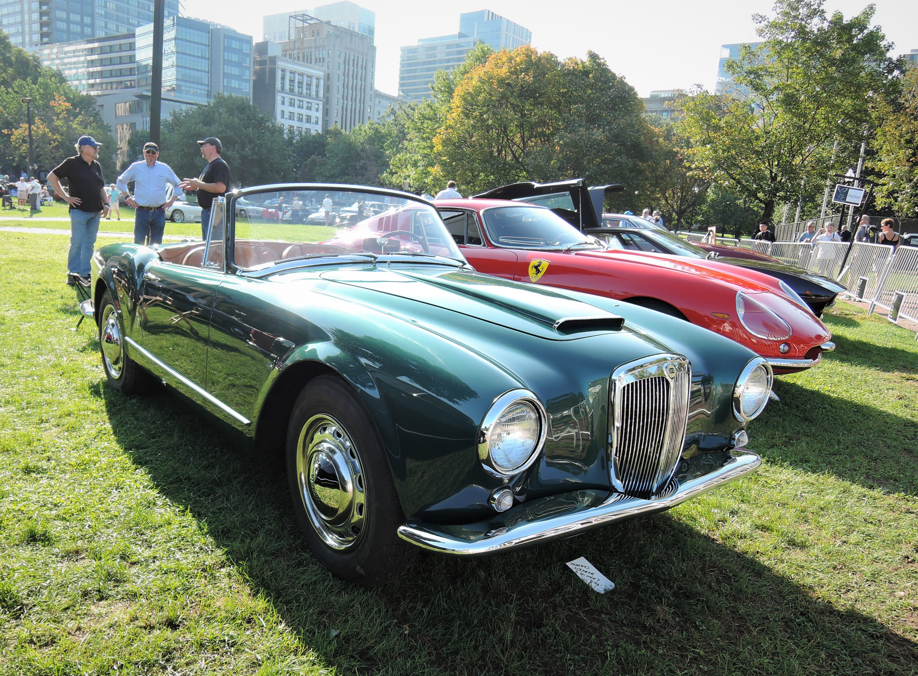 green 1960 Lancia Aurelia B-24 Convertible - The Boston Cup 2017