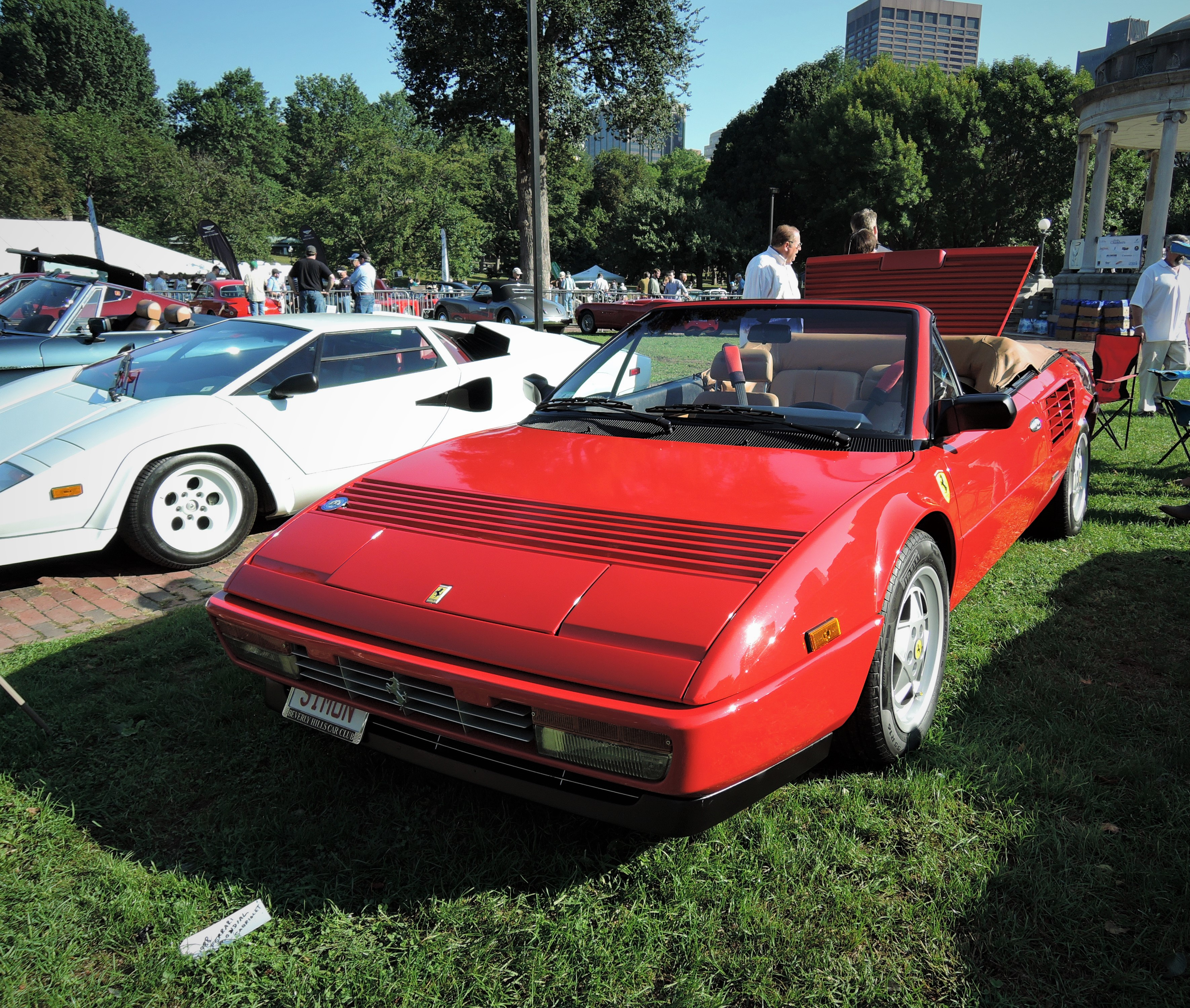 red 1988 Ferrari Mondial Convertible - The Boston Cup 2017