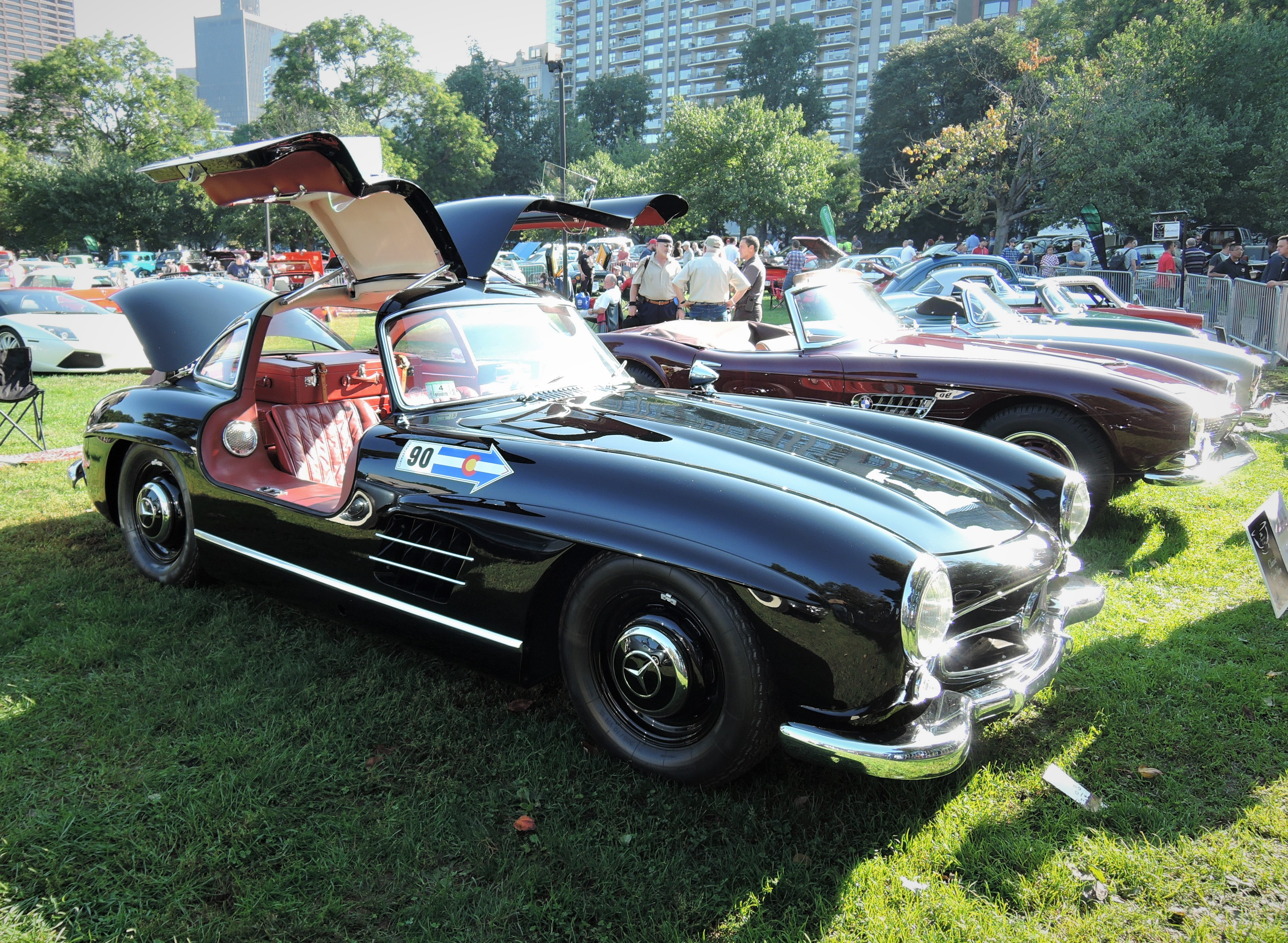 black 1955 Mercedes-Benz 300 SL Gullwing - The Boston Cup 2017