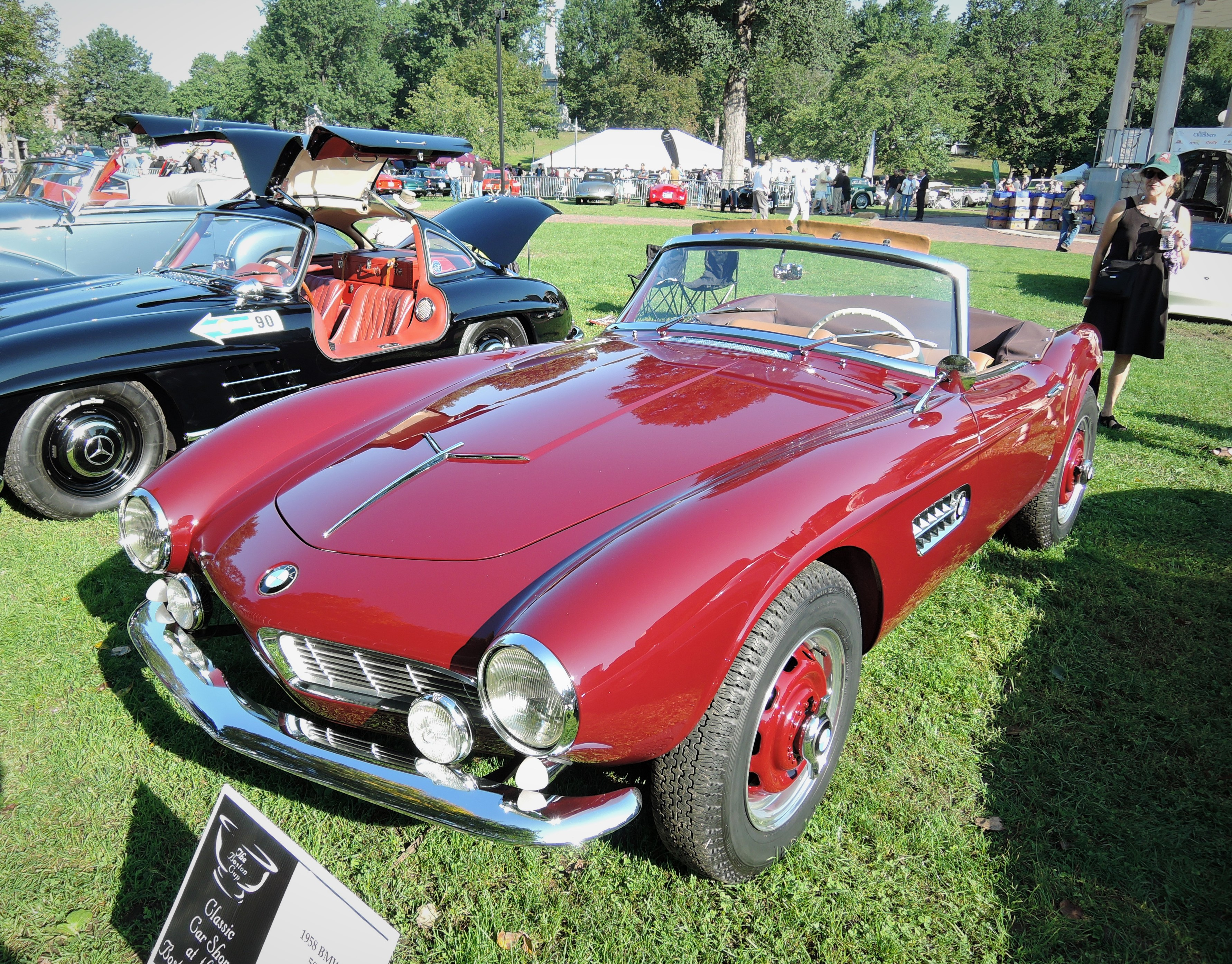 dark red 1958 BMW 507 - The Boston Cup 2017