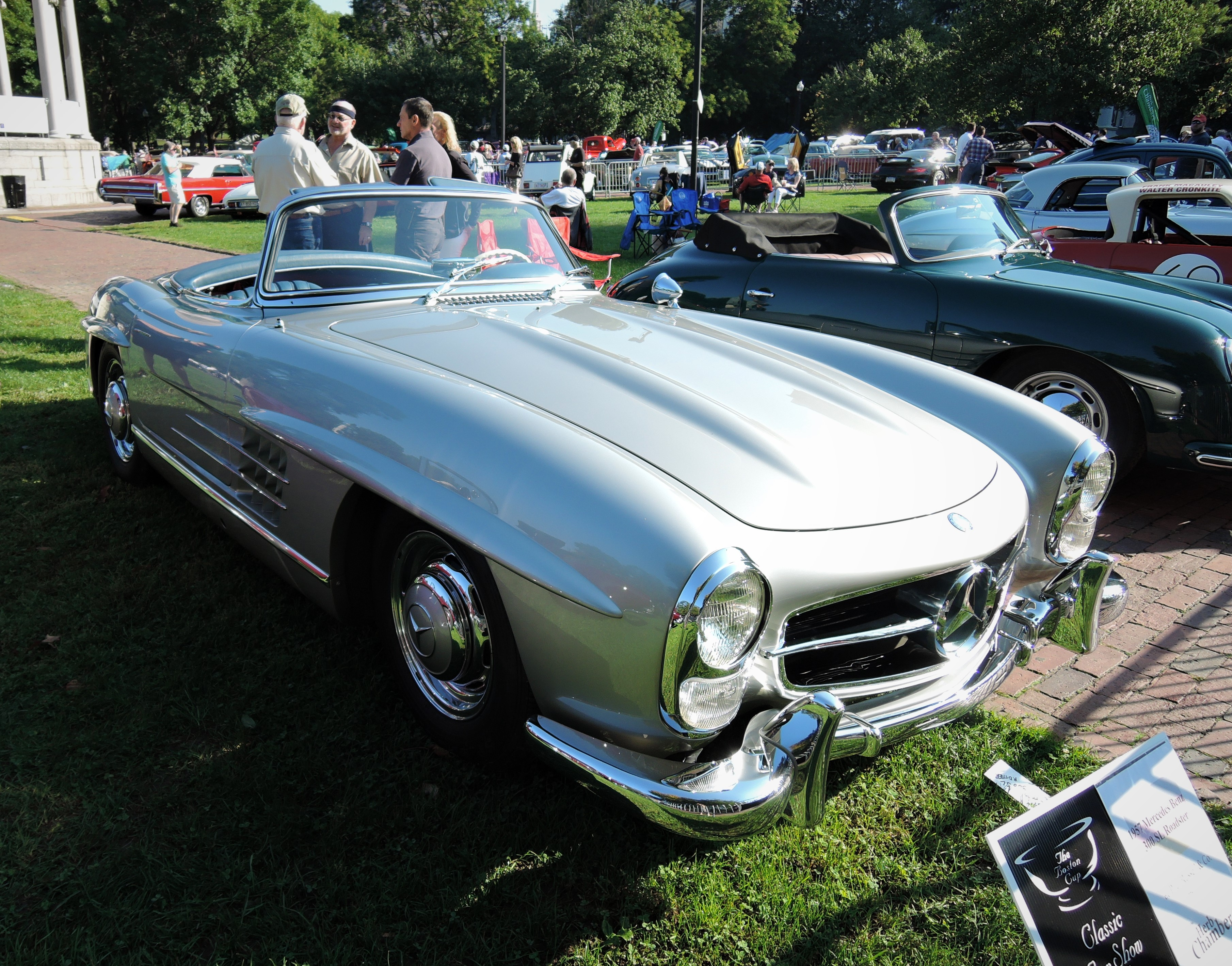 silver 1957 Mercedes-Benz 300 SL Roadster - The Boston Cup 2017
