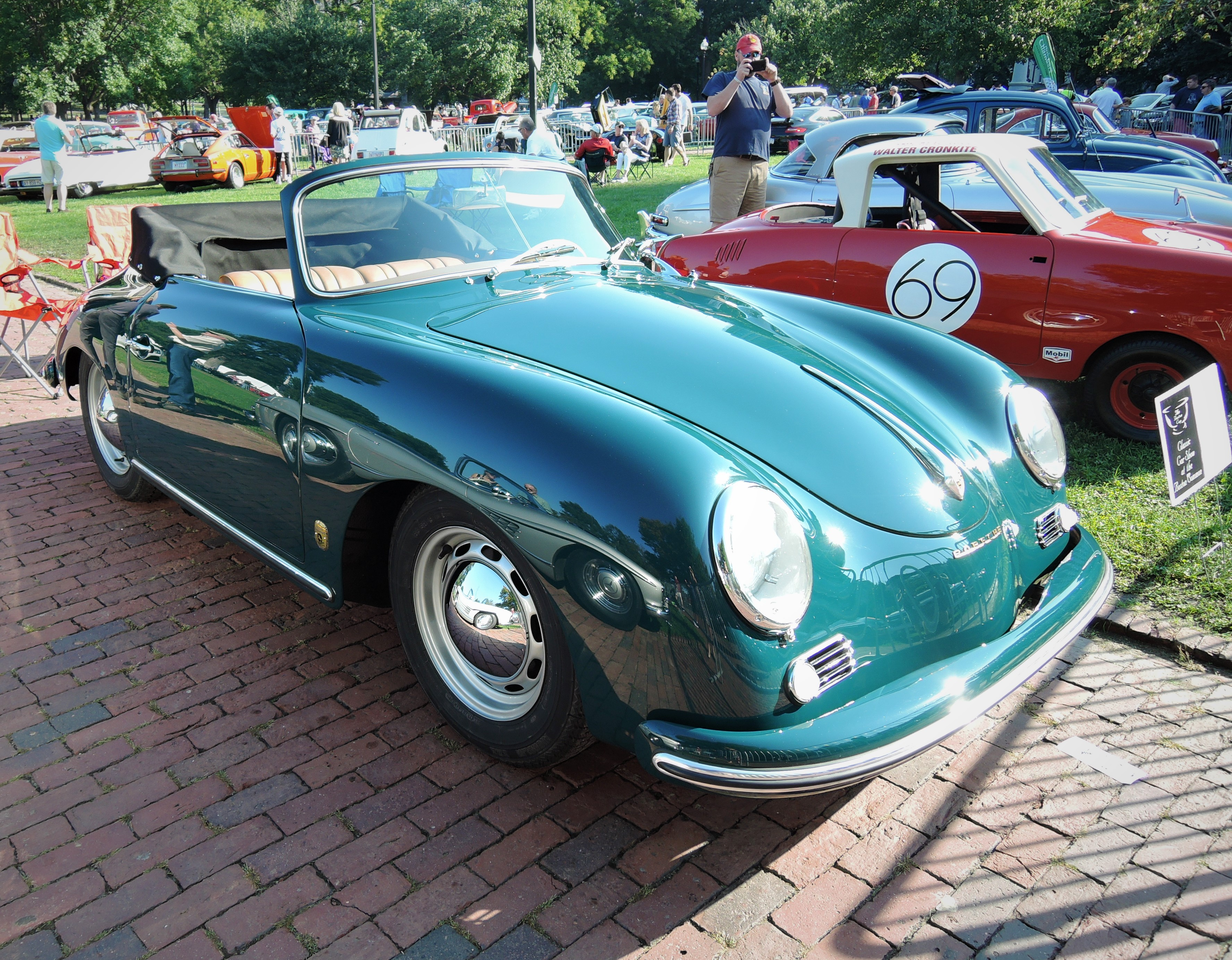 green 1957 Porsche 356 A Cabriolet - The Boston Cup 2017
