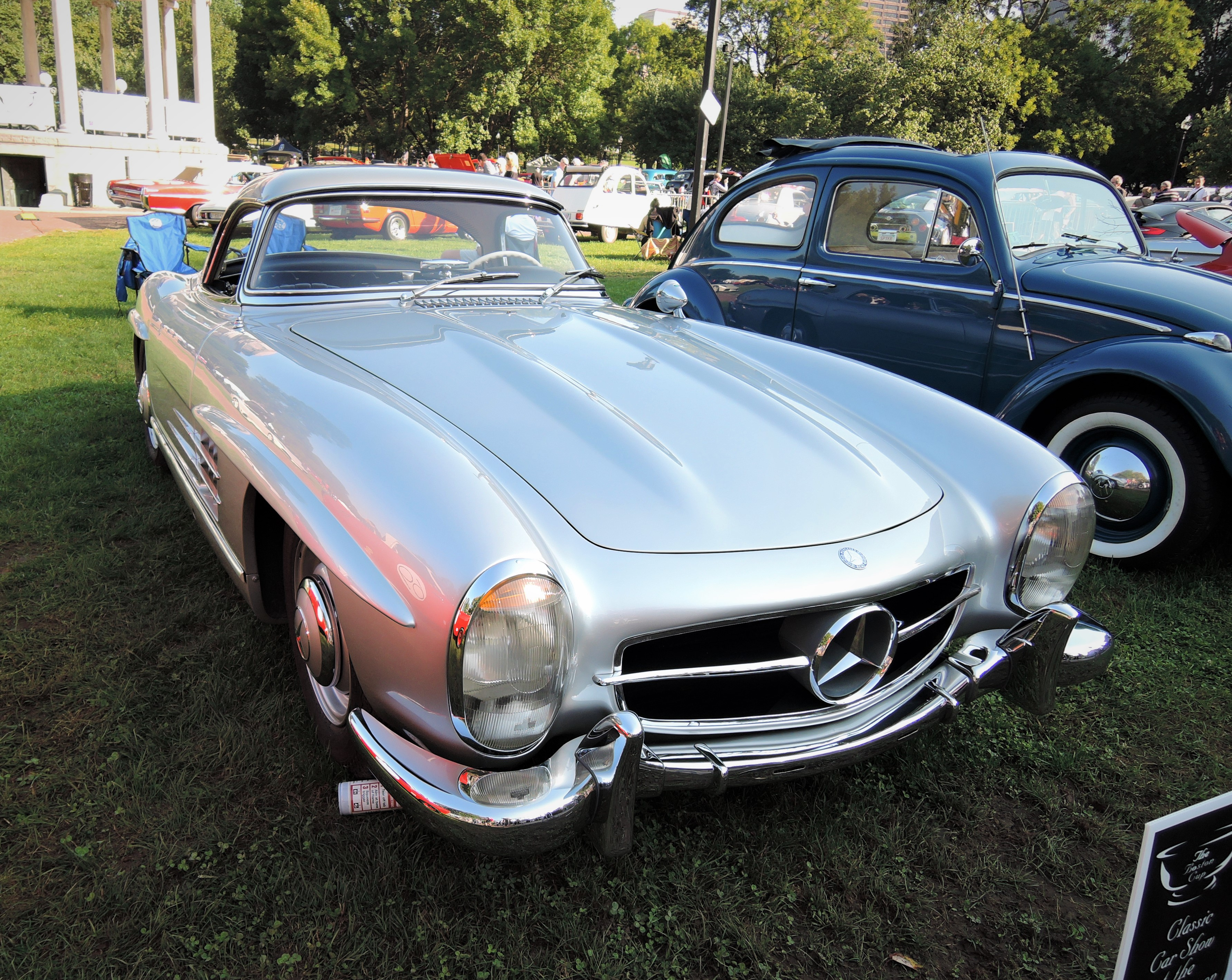 silver 1060 Mercedes-Benz 300 SL Roadster - The Boston Cup 2017