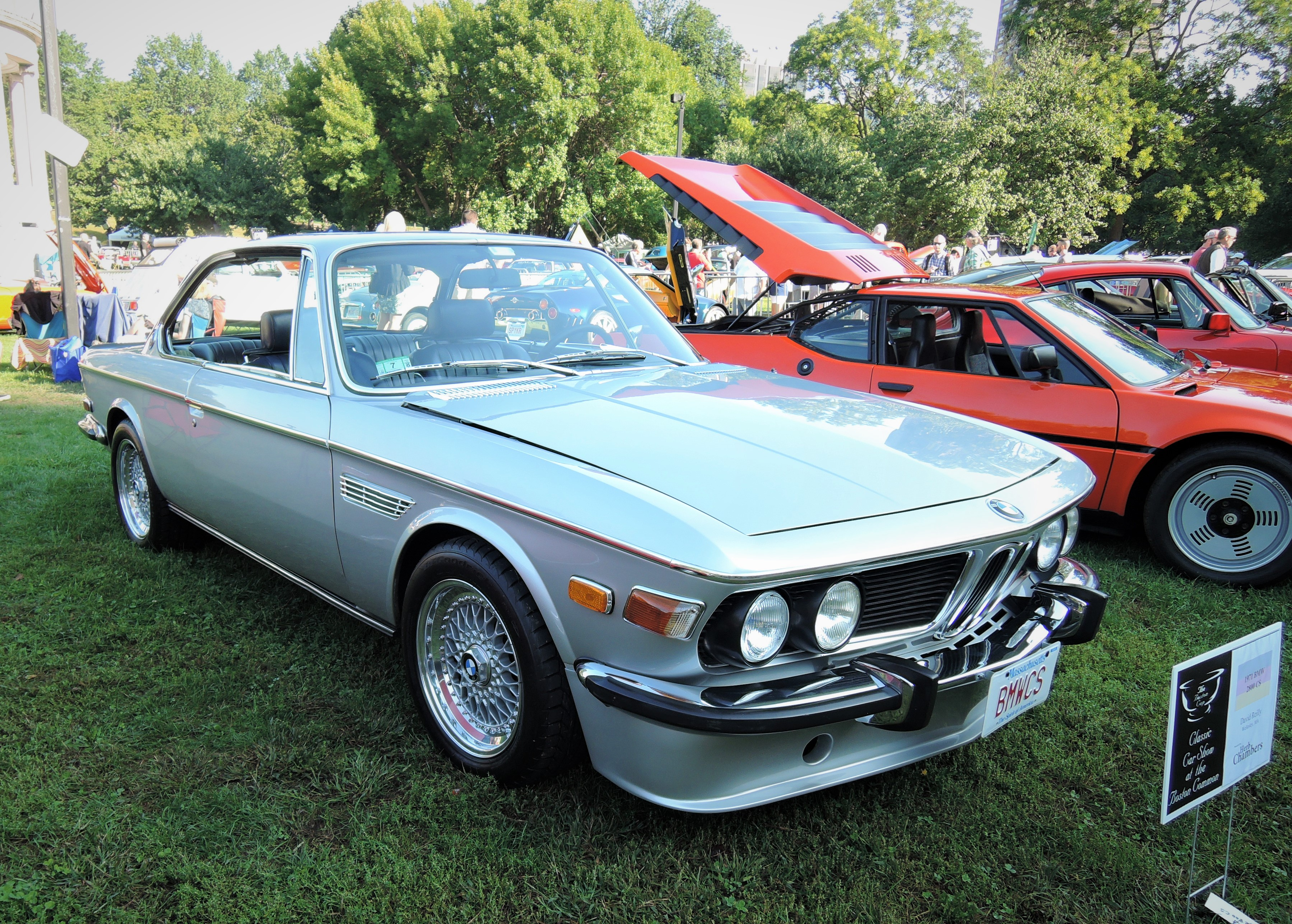 silver 1971 BMW 2800 CS - The Boston Cup 2017