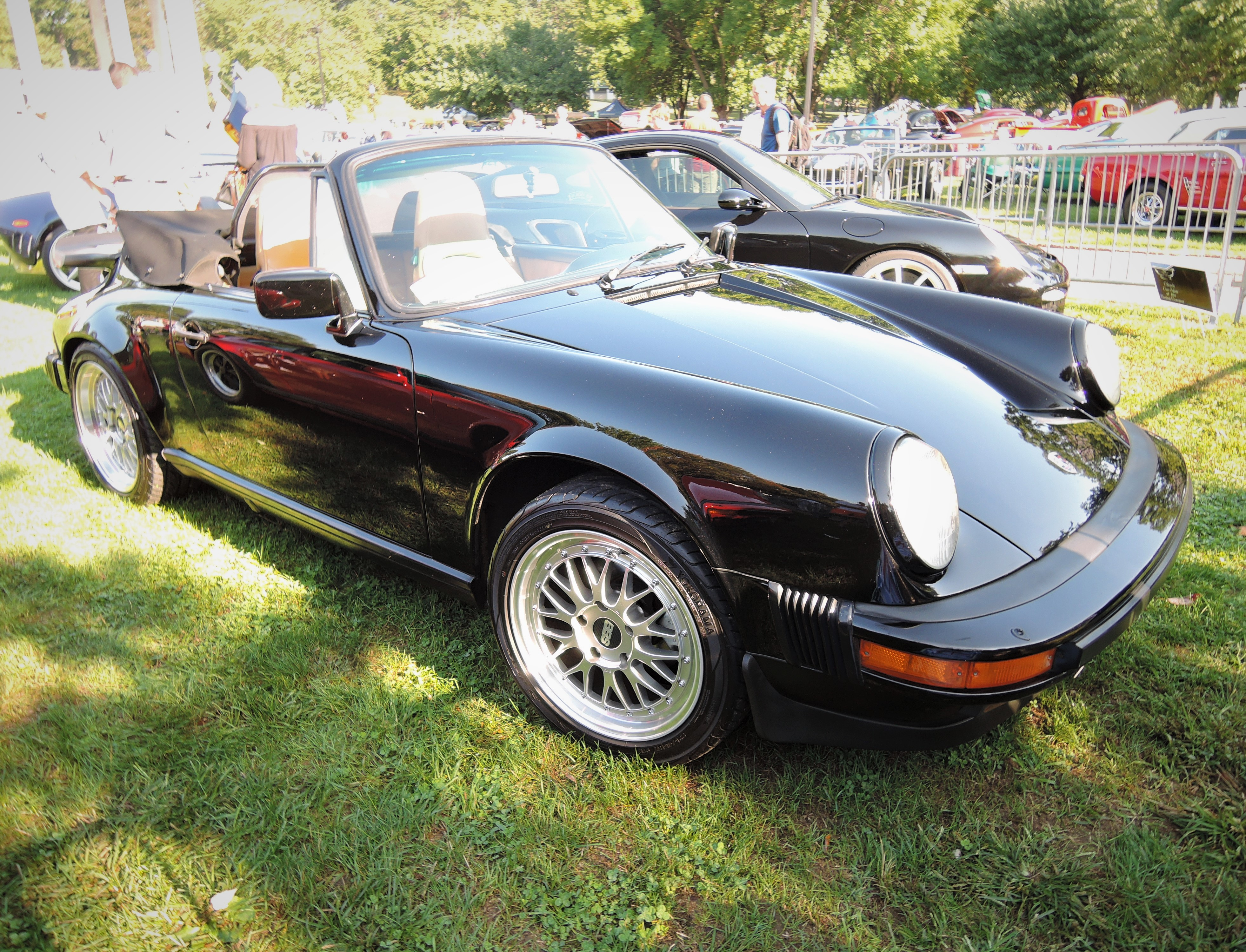brown 1986 Porsche 911 Cabriolet - The Boston Cup 2017