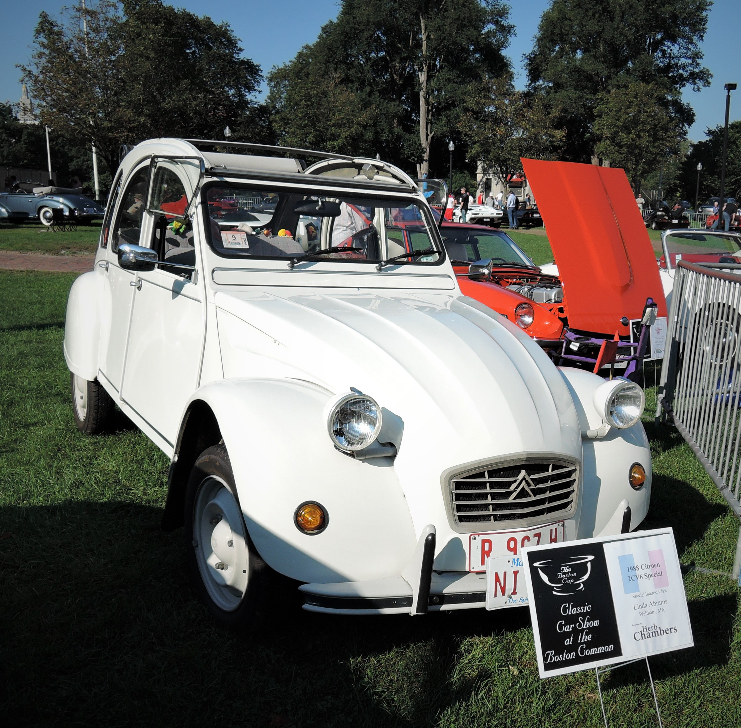 white 1988 Citroen 2CV6 Special - The Boston Cup 2017