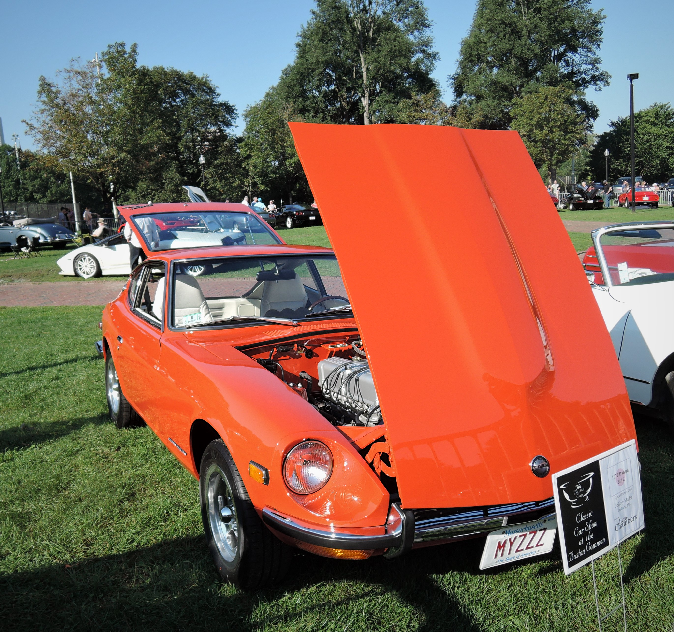orange 1972 Datsun 240Z - The Boston Cup 2017
