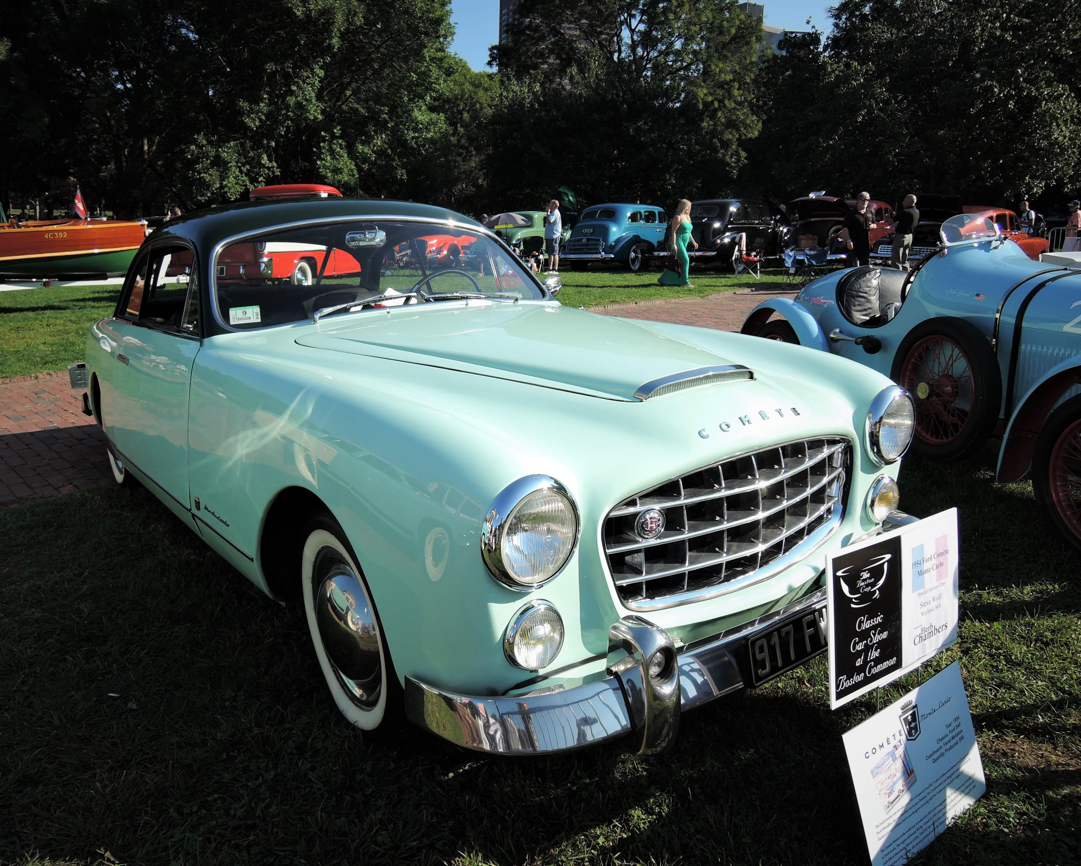 green 1954 Ford Comete Monte Carlo - The Boston Cup 2017