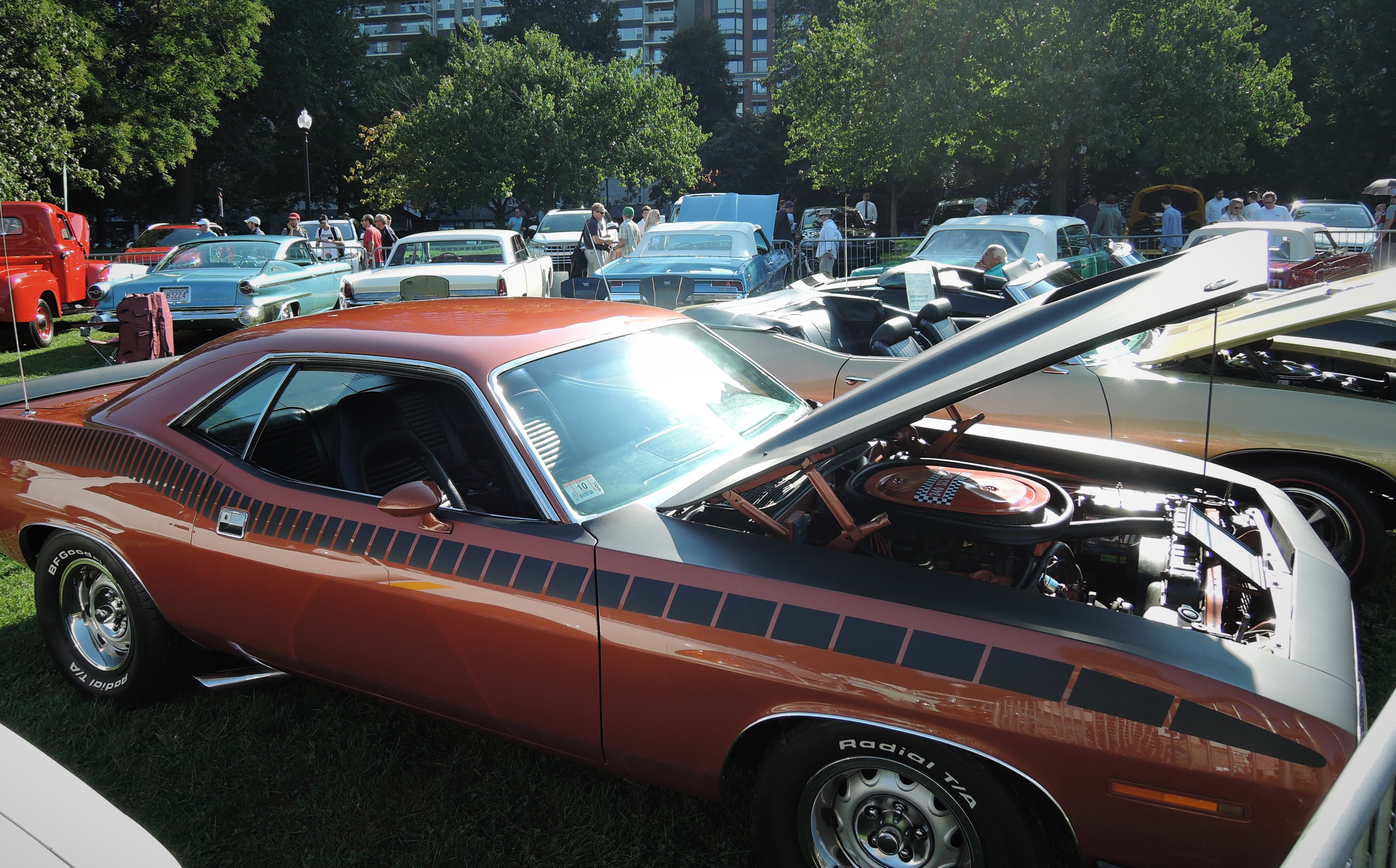 copper 1970 Plymouth AAR Cuda - The Boston Cup 2017
