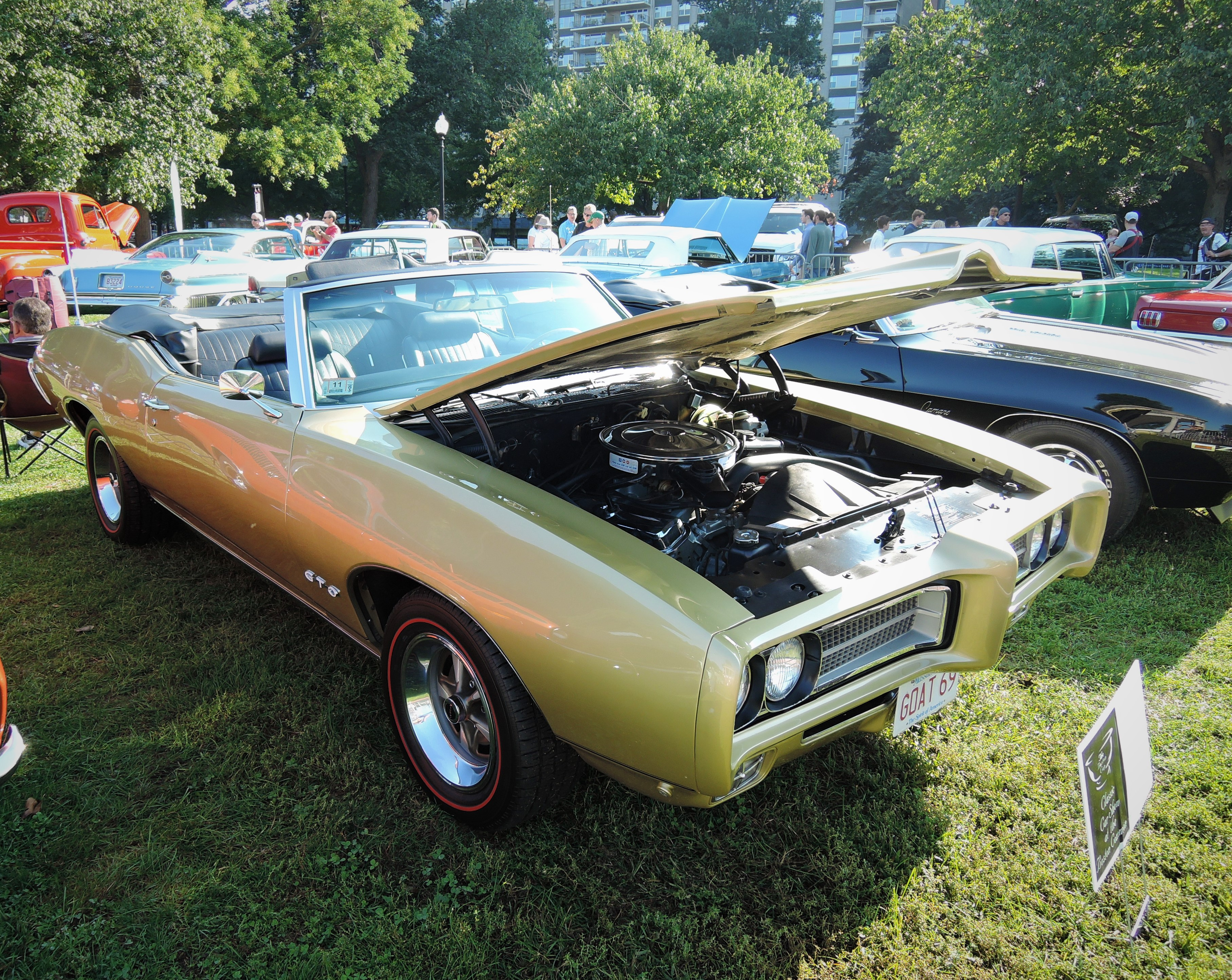 green 1969 Pontiac GTO Convertible - The Boston Cup 2017
