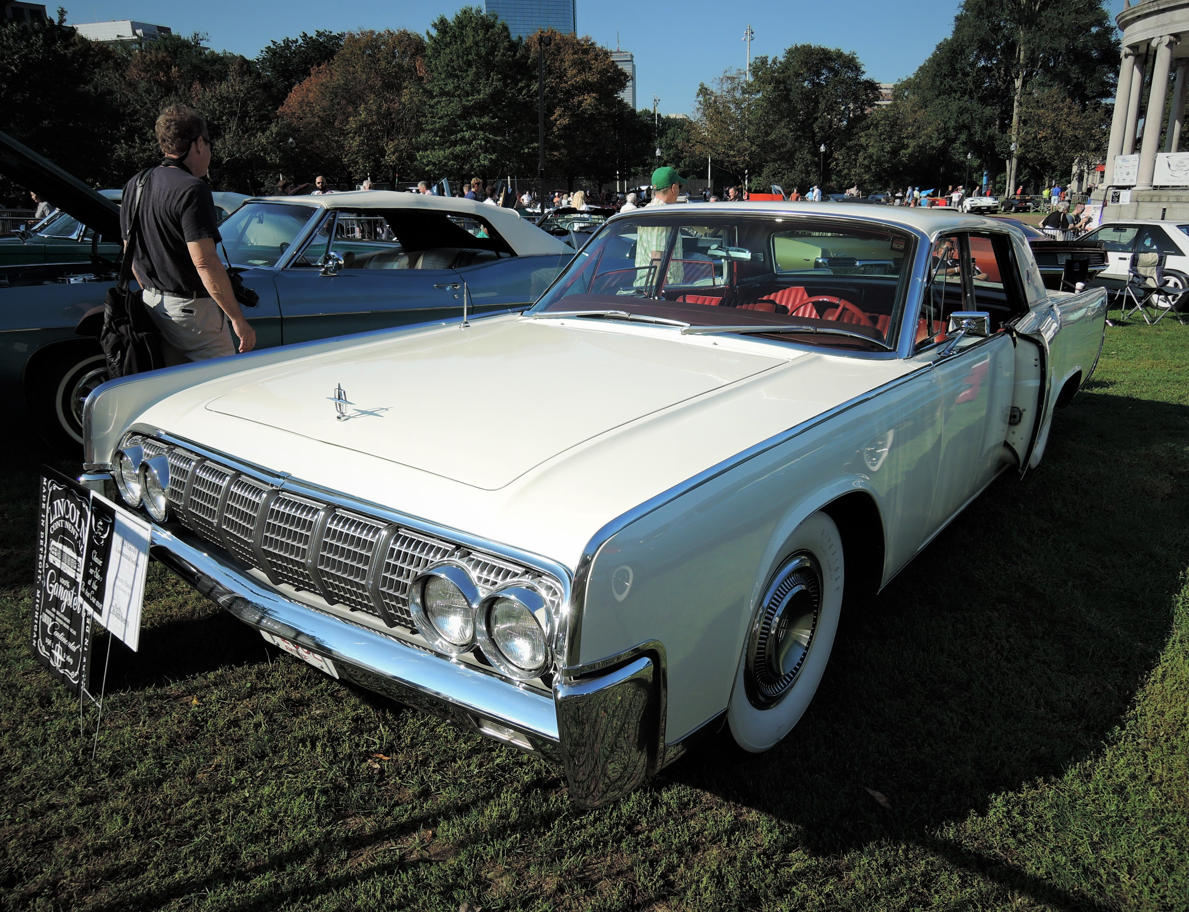 white 1964 Lincoln Continental Sedan - The Boston Cup 2017