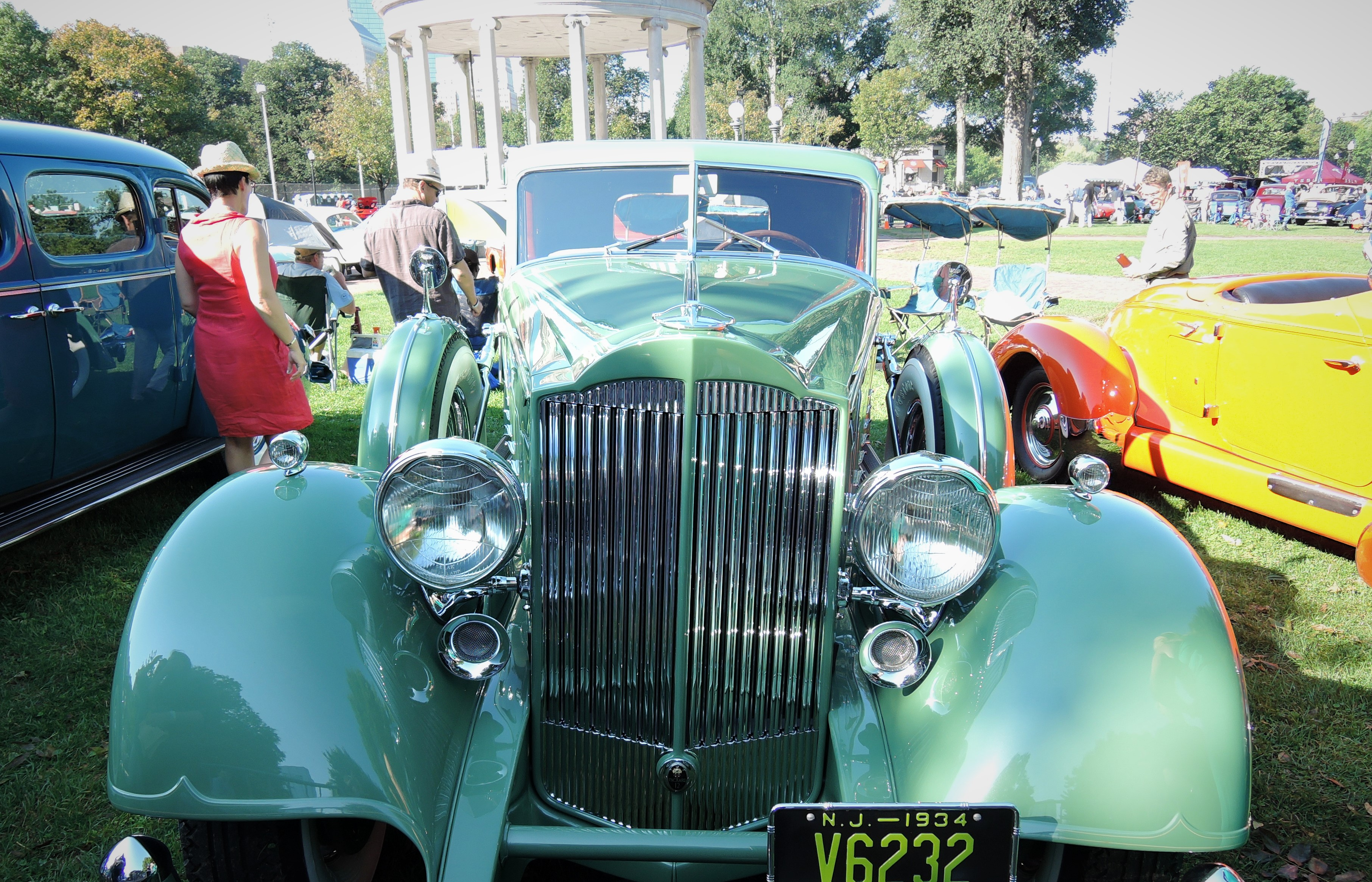 green 1934 Packard 1108 Dietrich Stationary Coupe - The Boston Cup 2017