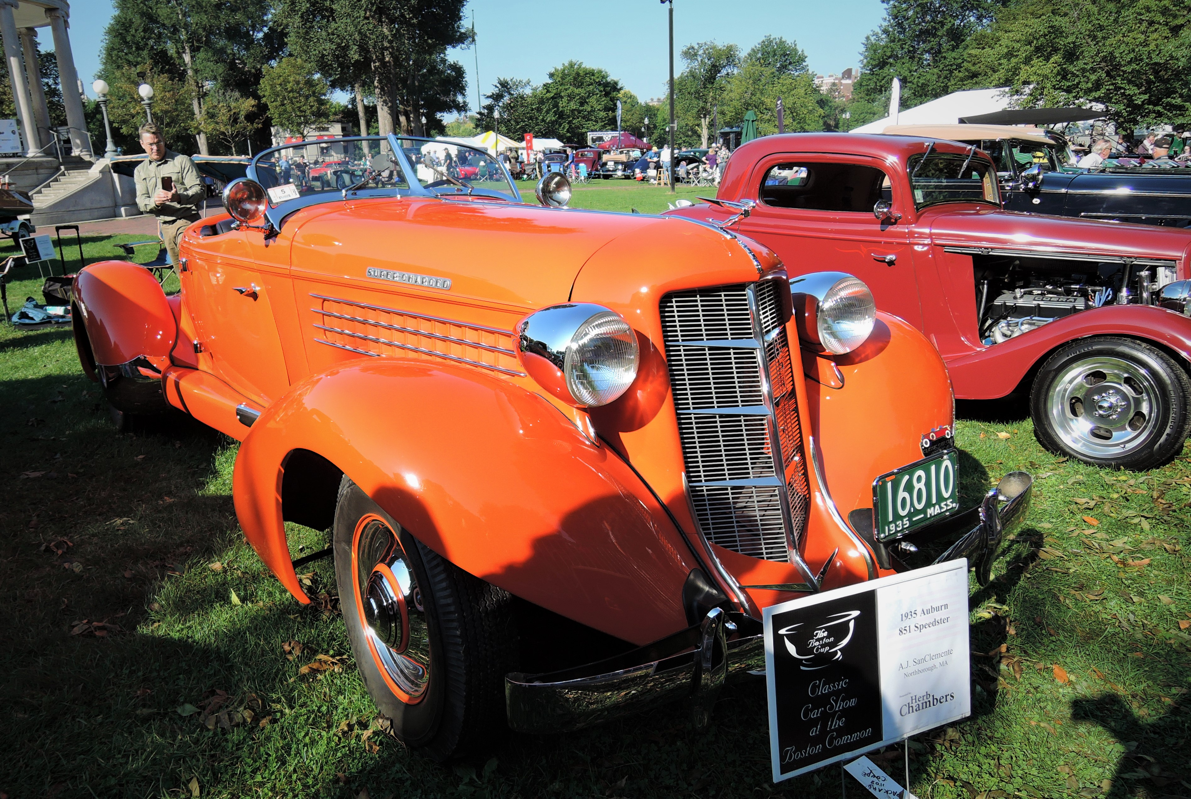orange 1935 Auburn 851 Speedster - The Boston Cup 2017