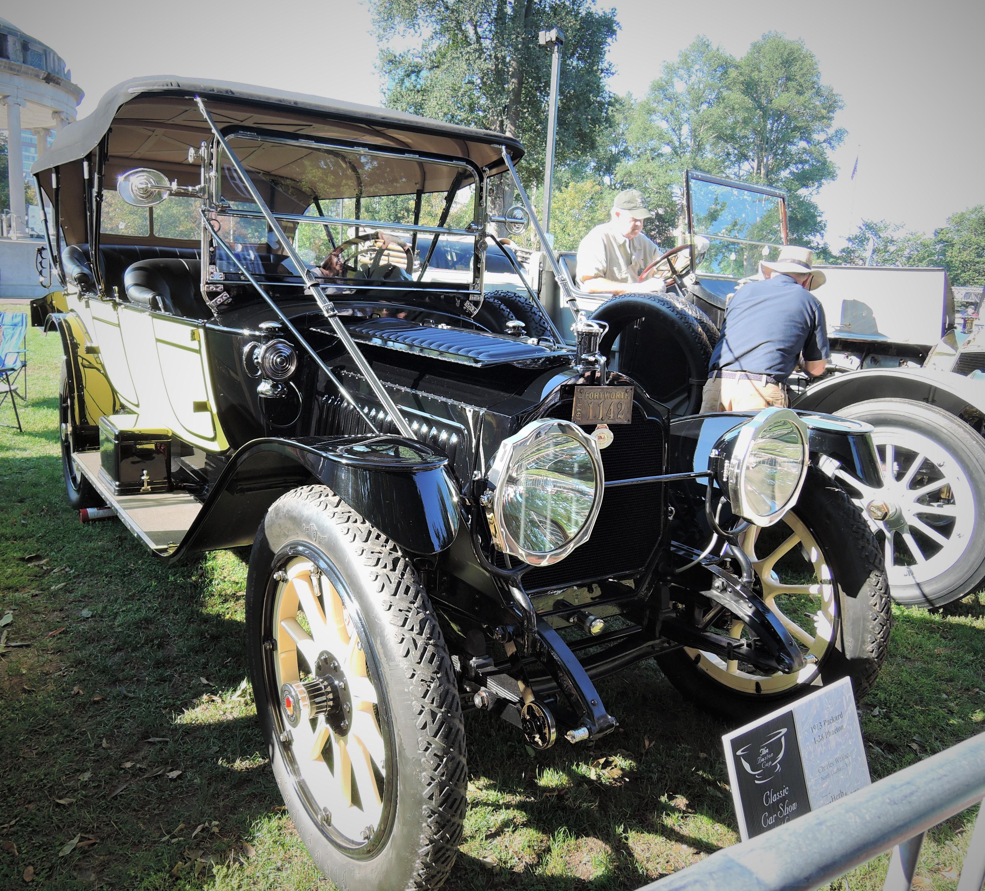 yellow/lack 1913 Packard I-38 Phaeton - The Boston Cup 2017