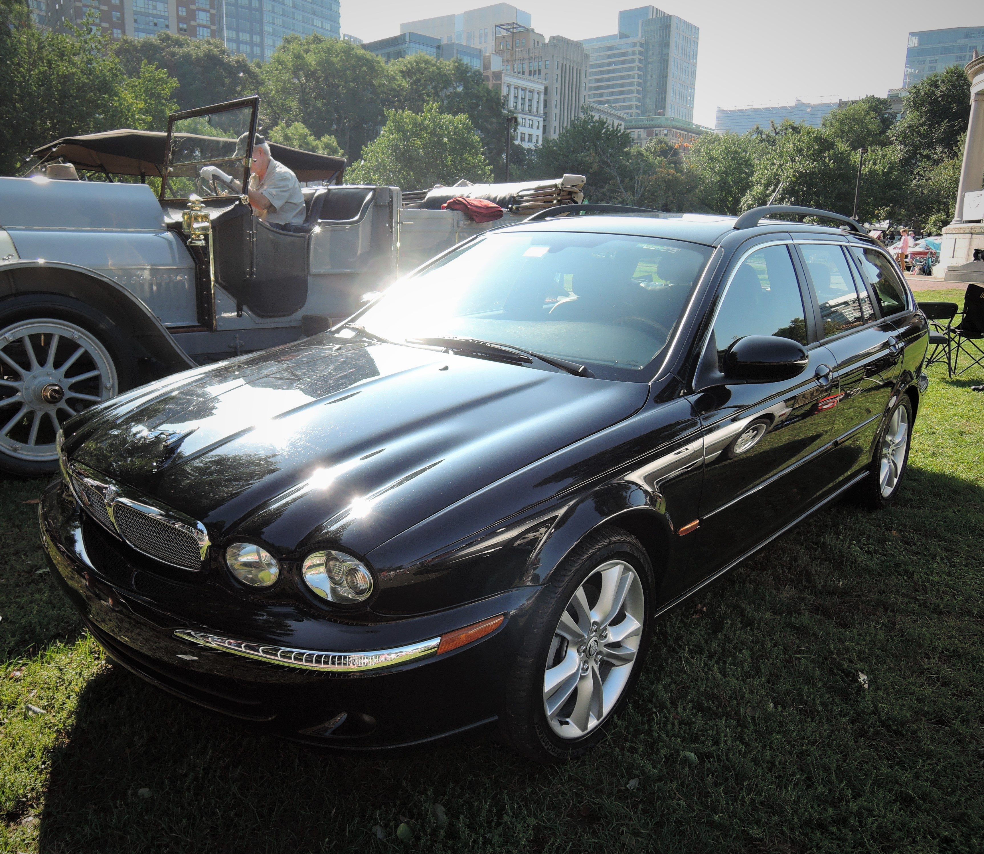 black 2007 Jaguar Estate Wagon - The Boston Cup 2017