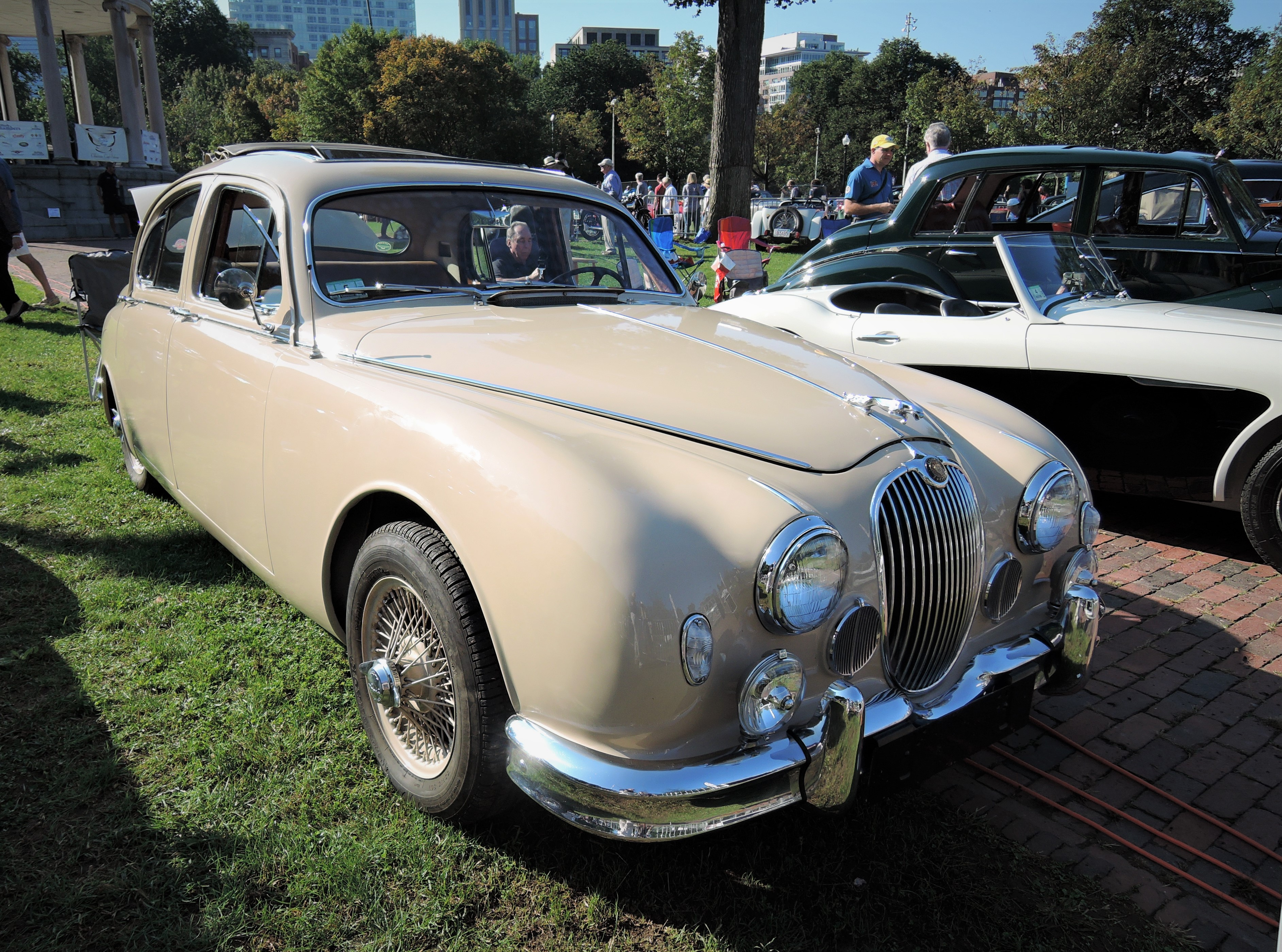 cream 1959 Jaguar 2.4 Saloon - The Boston Cup 2017