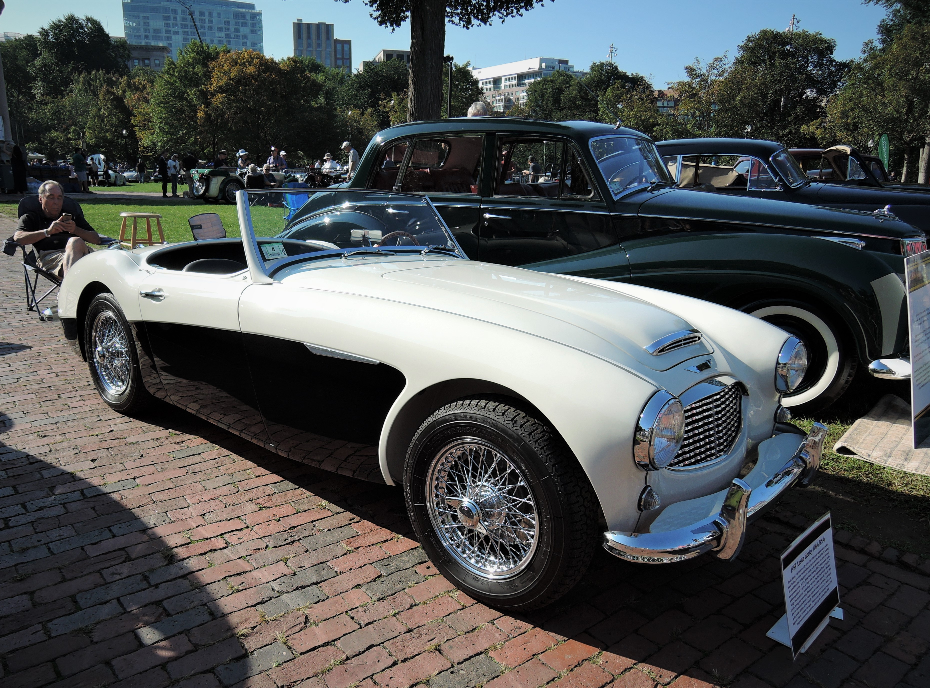 white/black 1959 Austin-Healey 100-6 BN6 - The Boston Cup 2017