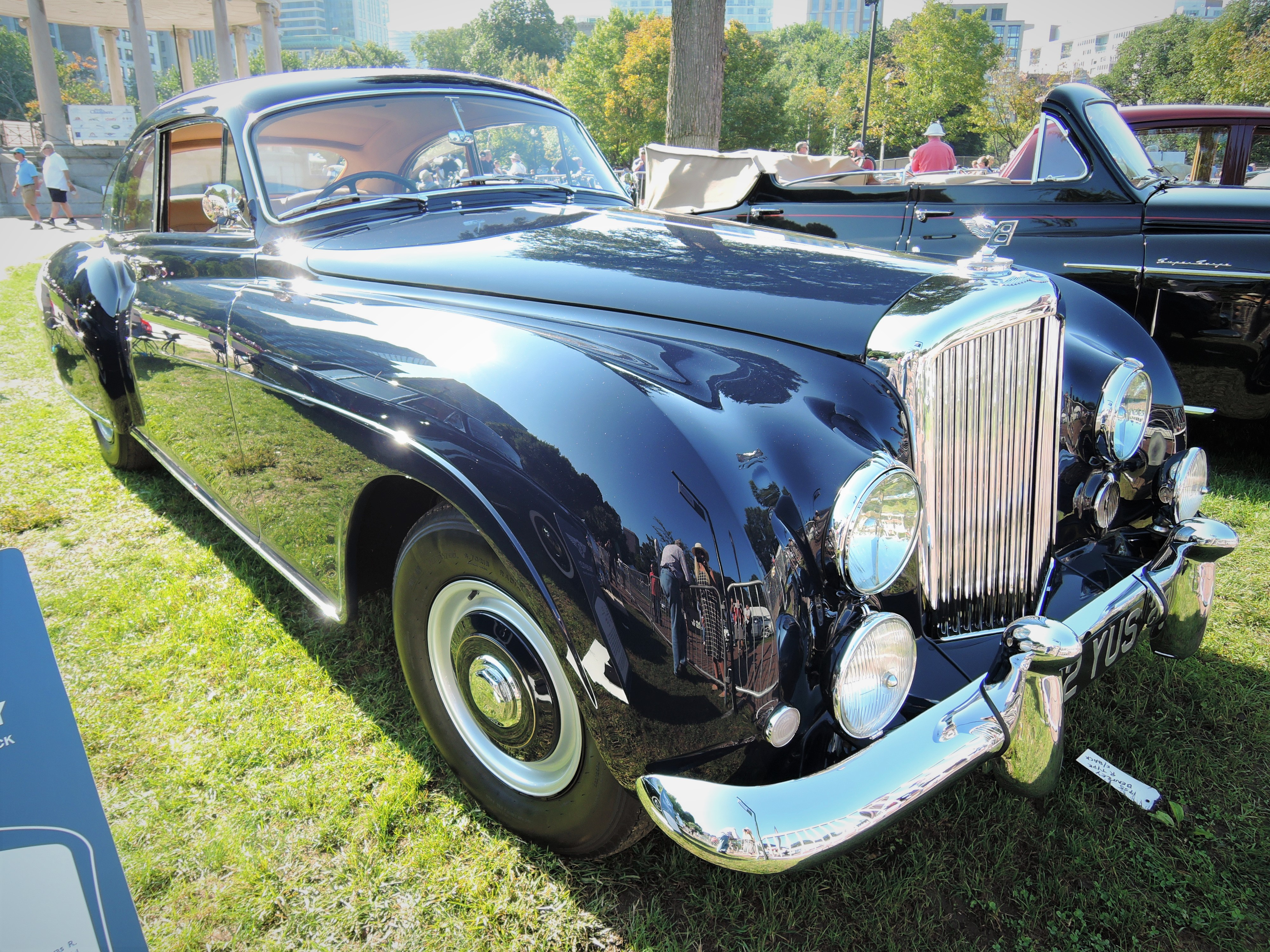 black 1955 Bentley R Type Continental Fastback - The Boston Cup 2017