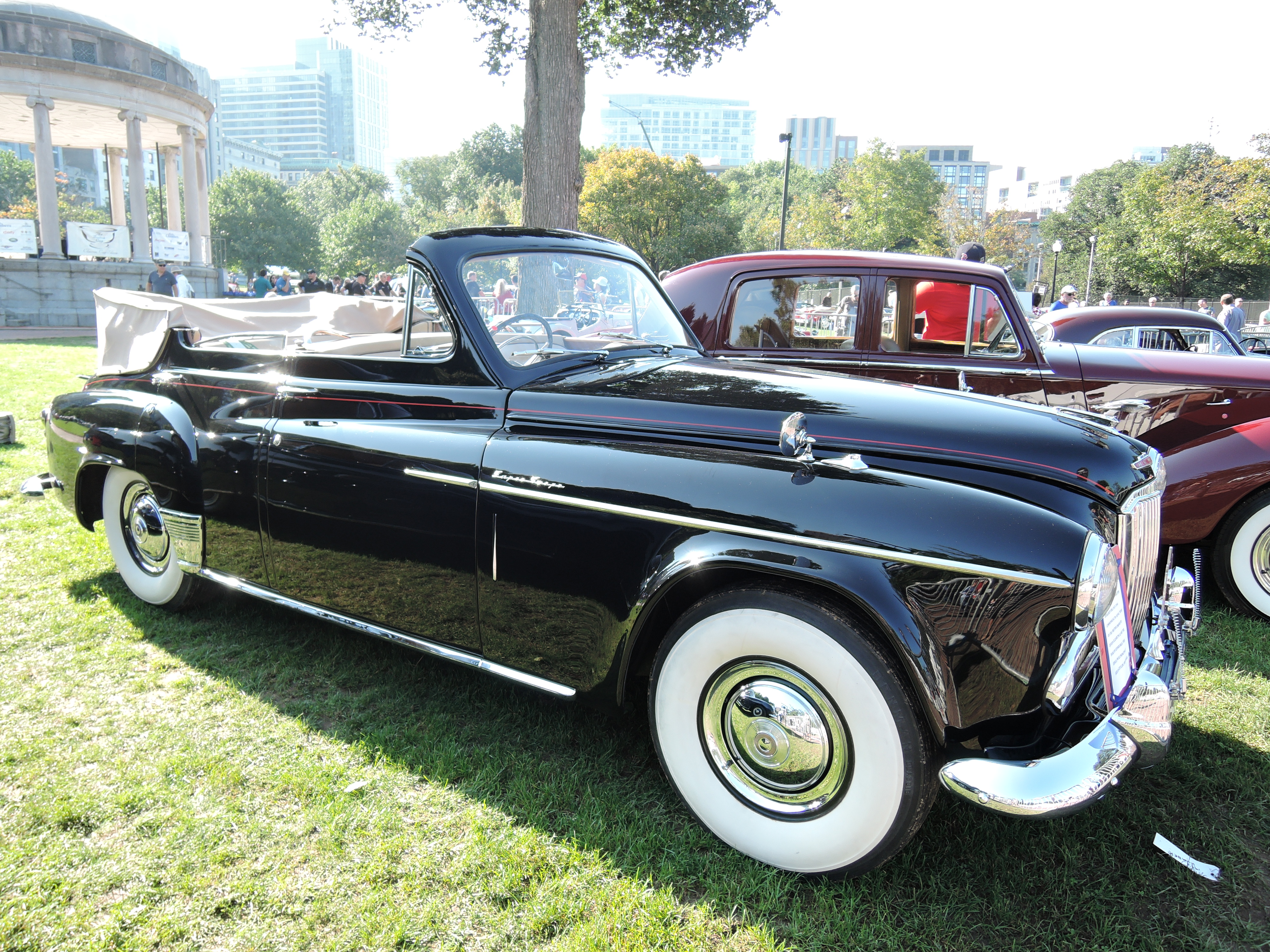 black 1953 Humber Super Snipe Phaeton; The Queen's Car - The Boston Cup 2017