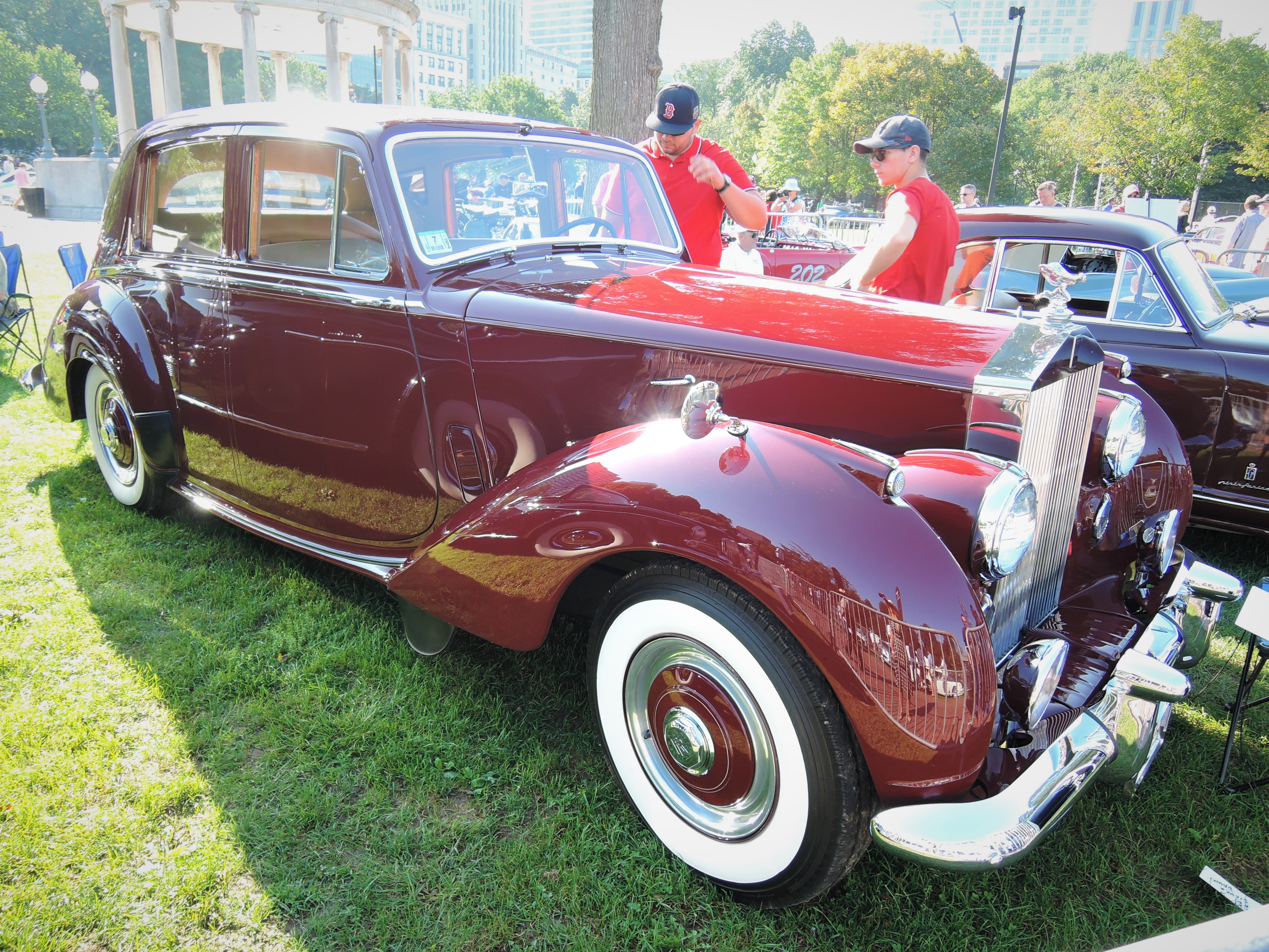 red 1953 Rolls Royce Silver Dawn - The Boston Cup 2017