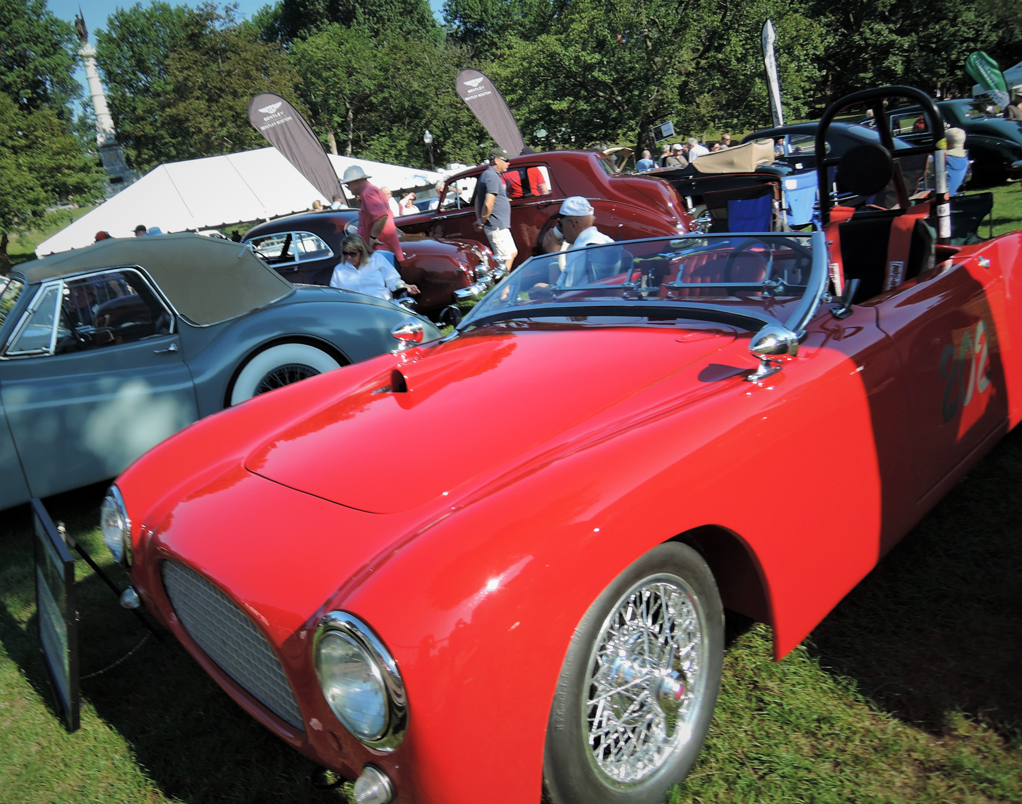 red 1952 MG TD Cisitalia Special - The Boston Cup 2017