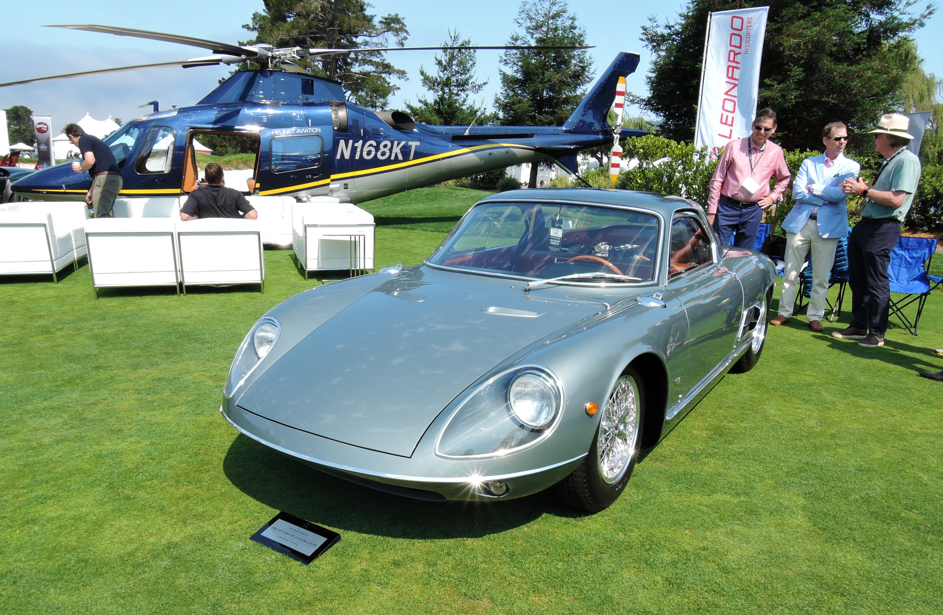 silver 1964 ATS 2500 GTS 2-door Coupe - The Quail 2017