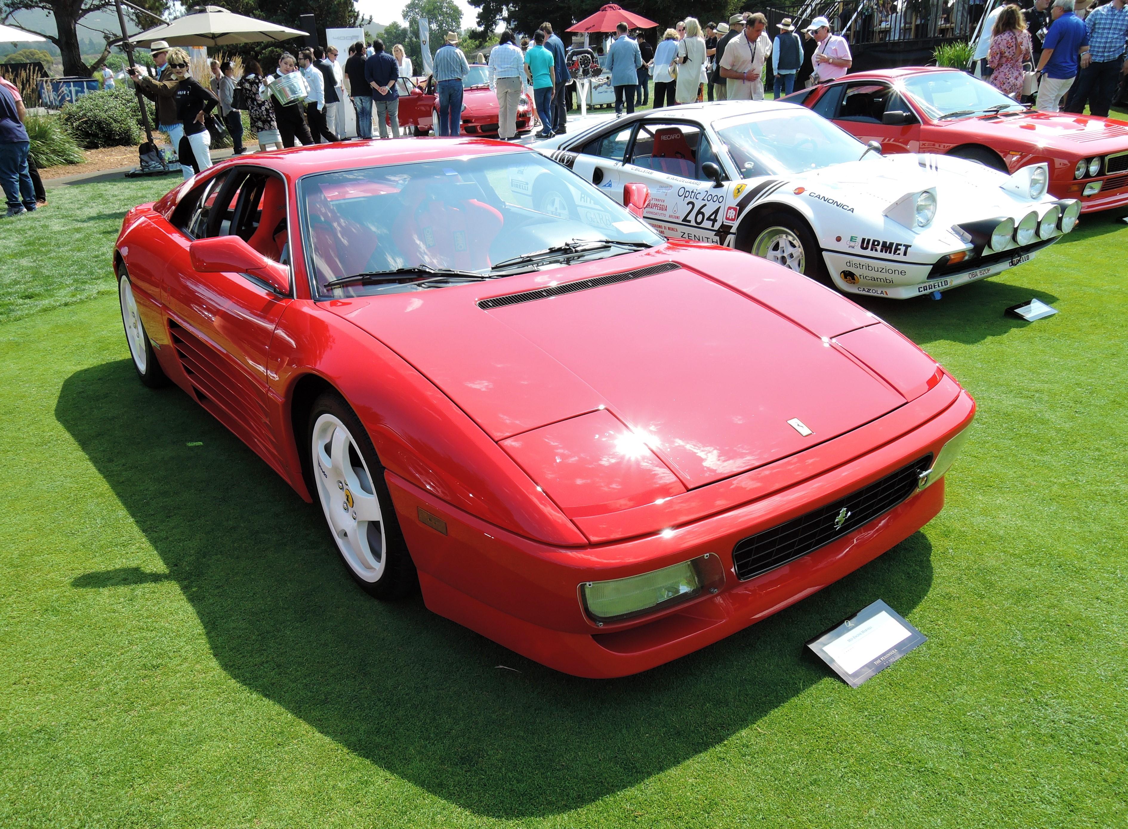 red 1994 Ferrari 348 TB - The Quail 2017