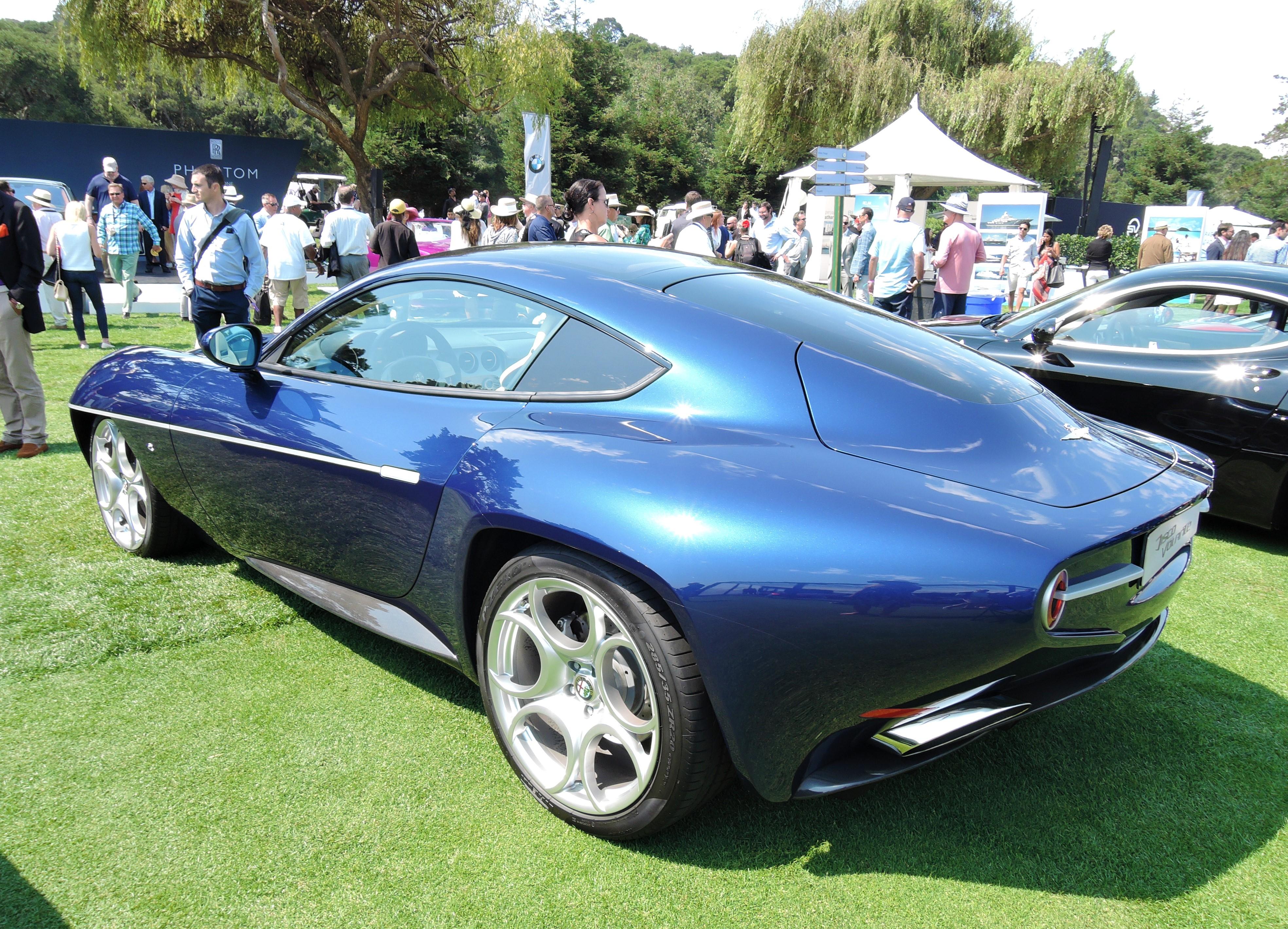 blue 2009 Alfa Romeo Disco Volante - The Quail 2017