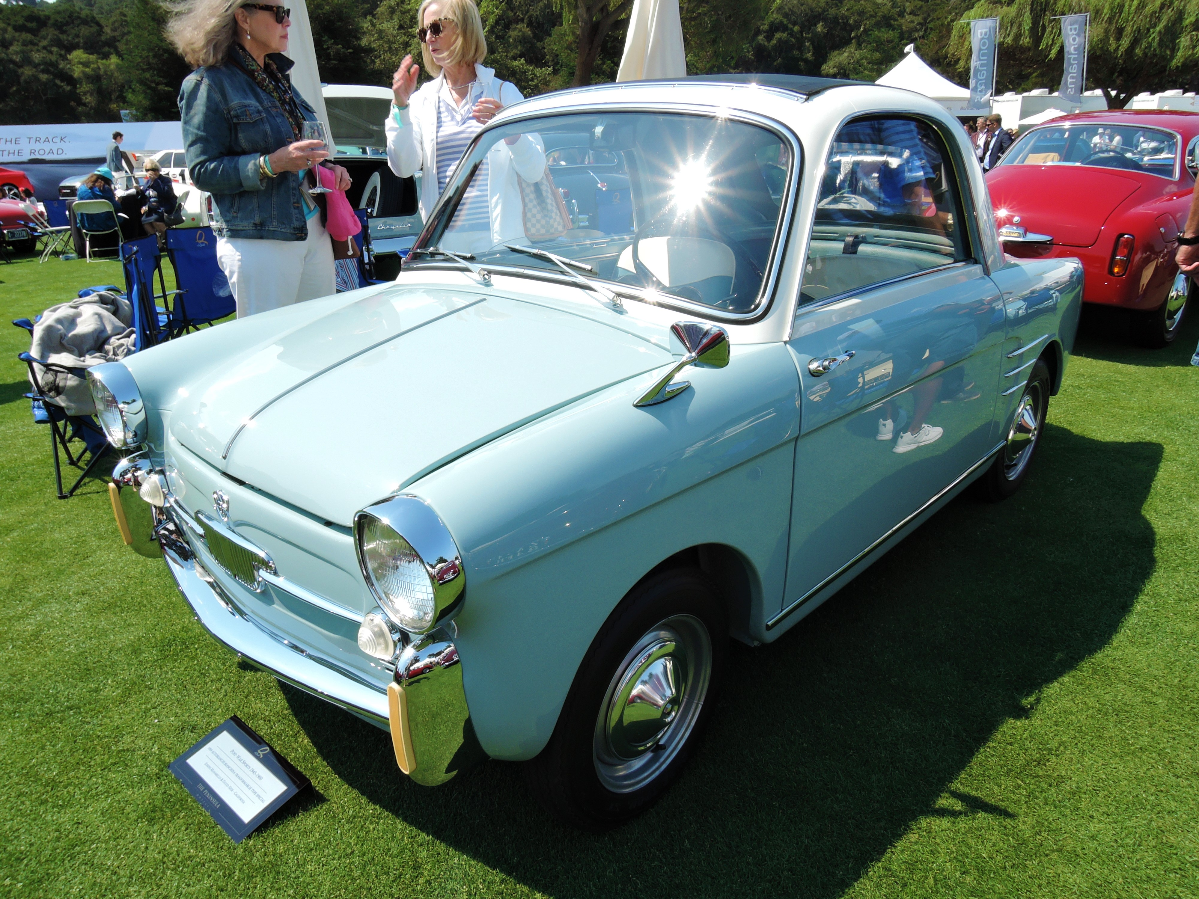 light blue 1959 Autobianchi Bianchina Transformablie Type Special - The Quail 2017