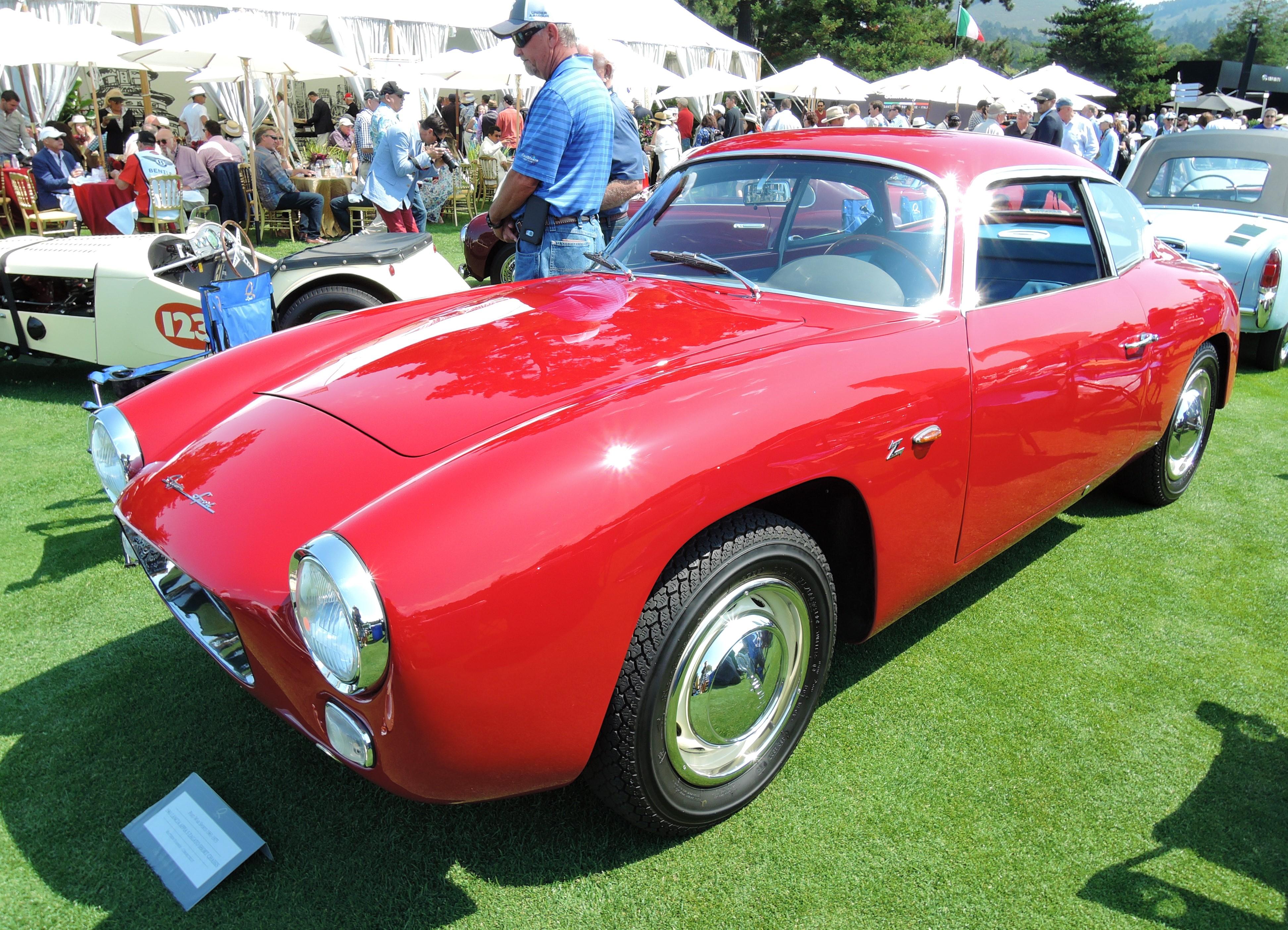 red 1961 Lancia Appia S Zagato Short Chassis - The Quail 2017
