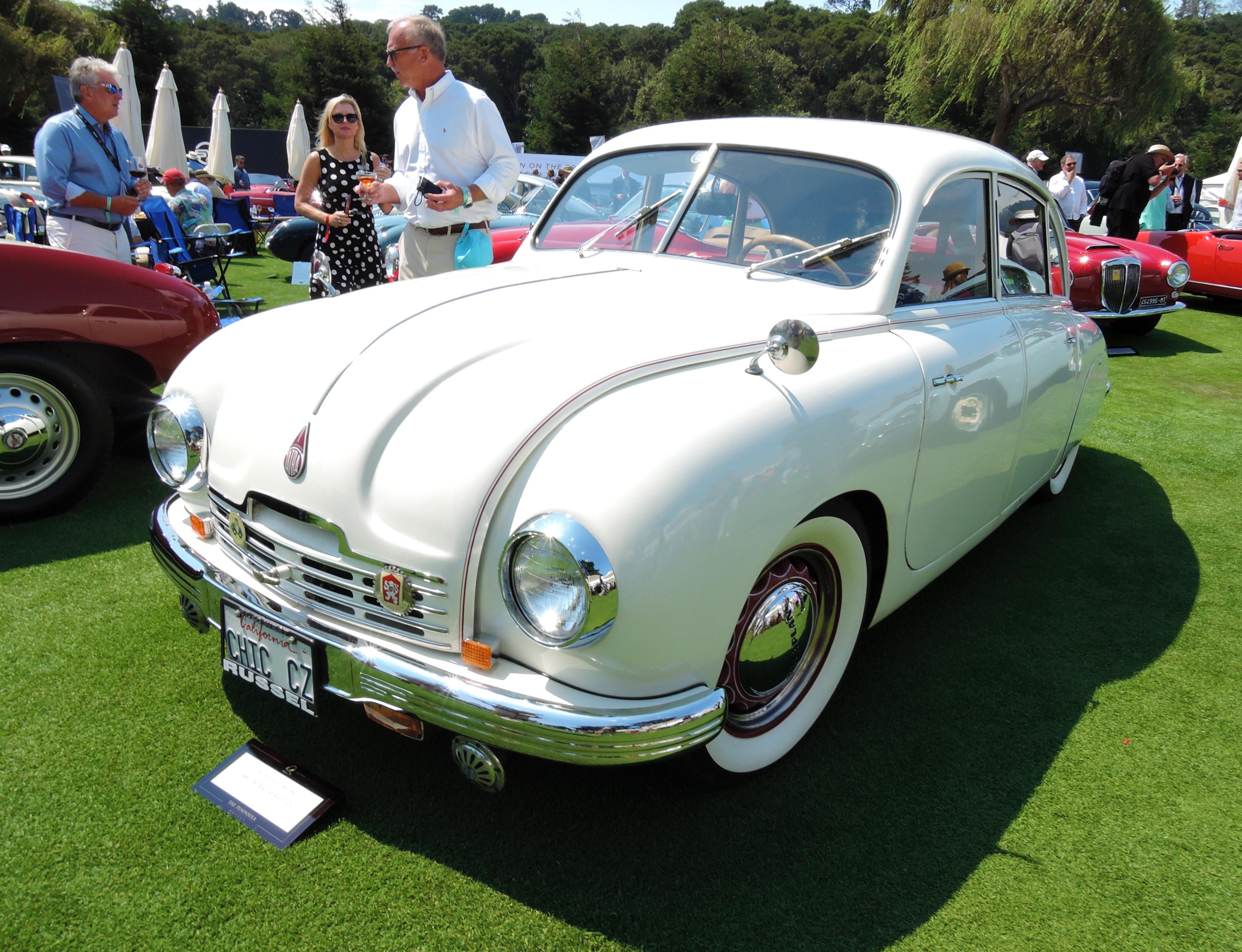 white 1951 Tatra Tatraplan - The Quail 2017