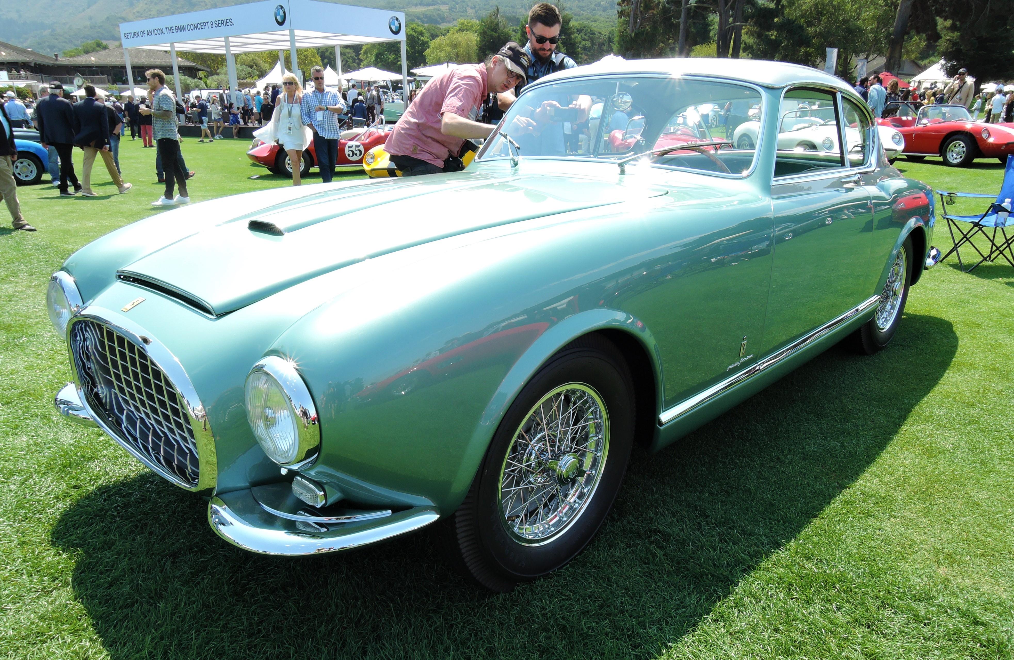green/silver 1952 Ferrari 342 America - The Quail 2017
