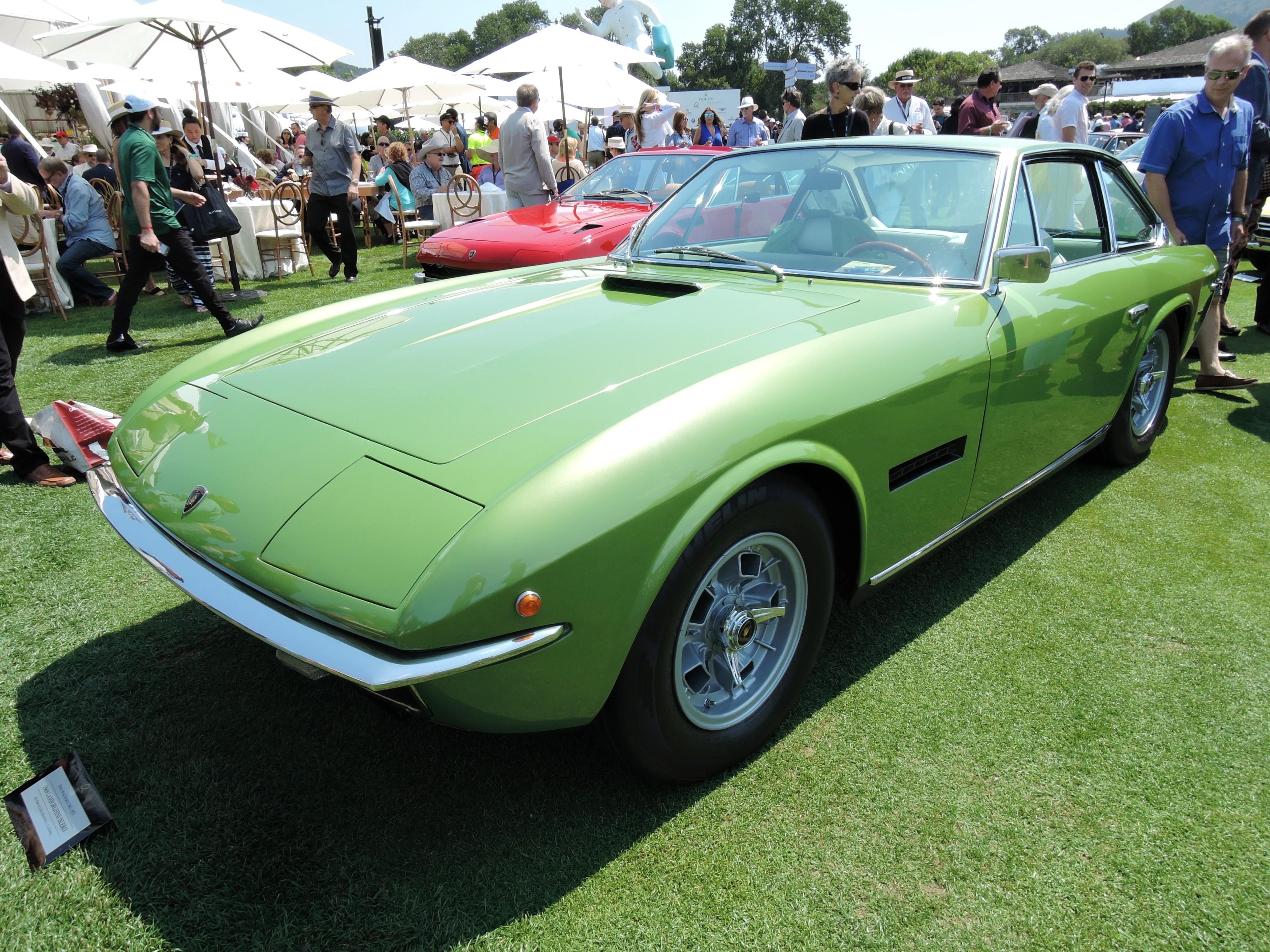 green 1969 Lamborghini Islero - The Quail 2017