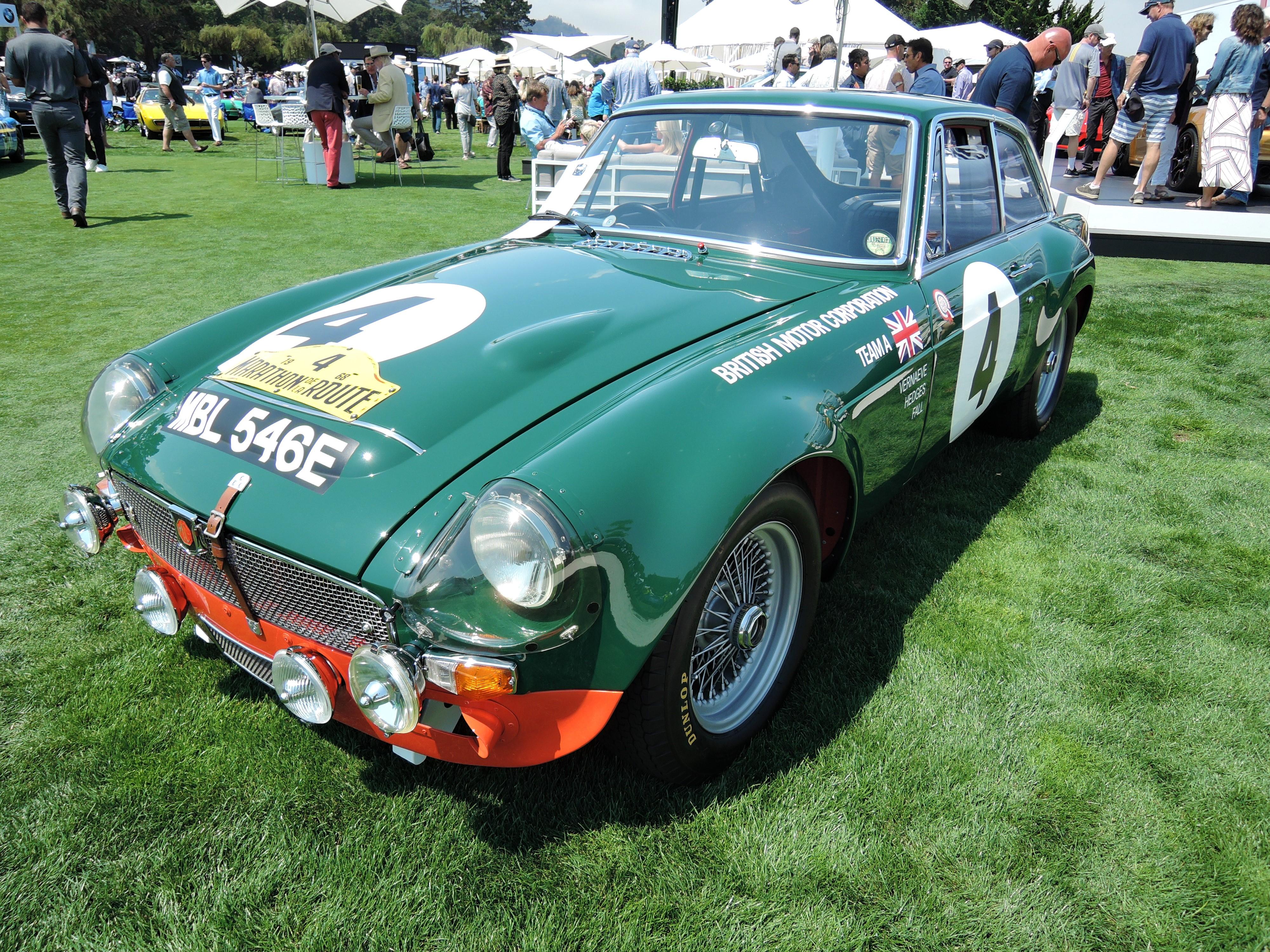 green 1967 MGC-GTS - The Quail 2017