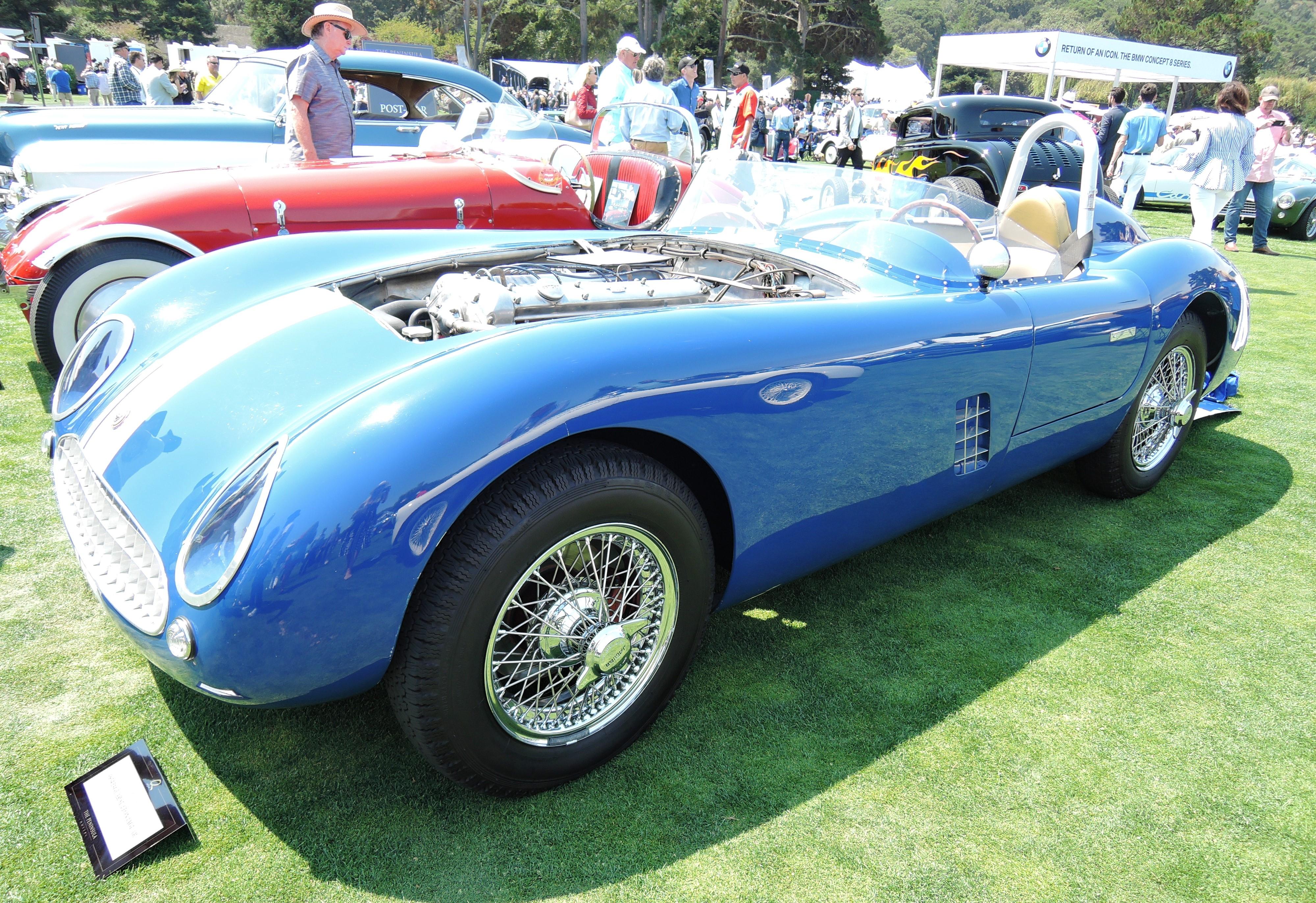 blue 1954 Jaguar Sutton Jaguar - The Quail 2017