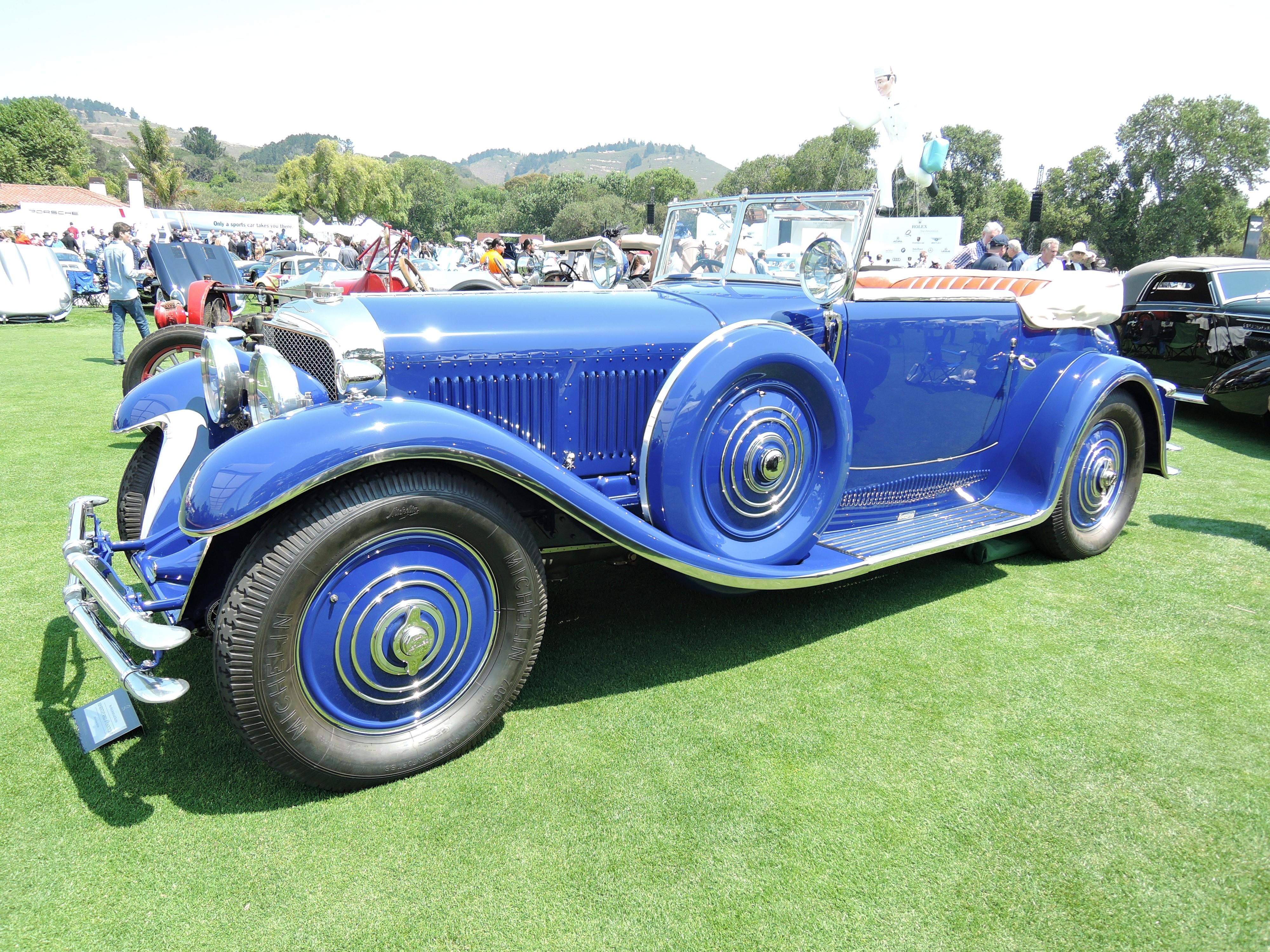 blue 1929 Bentley Speed 6 - Saoutchik - The Quail 2017