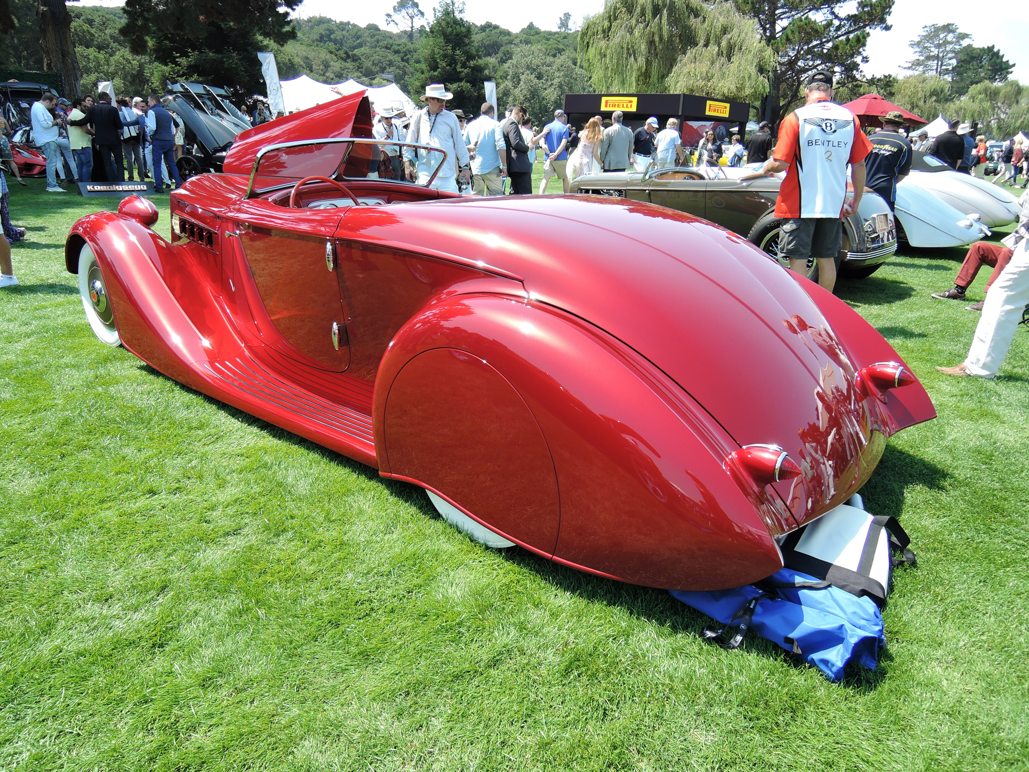 red 1936 Packard Roadster - The Quail 2017
