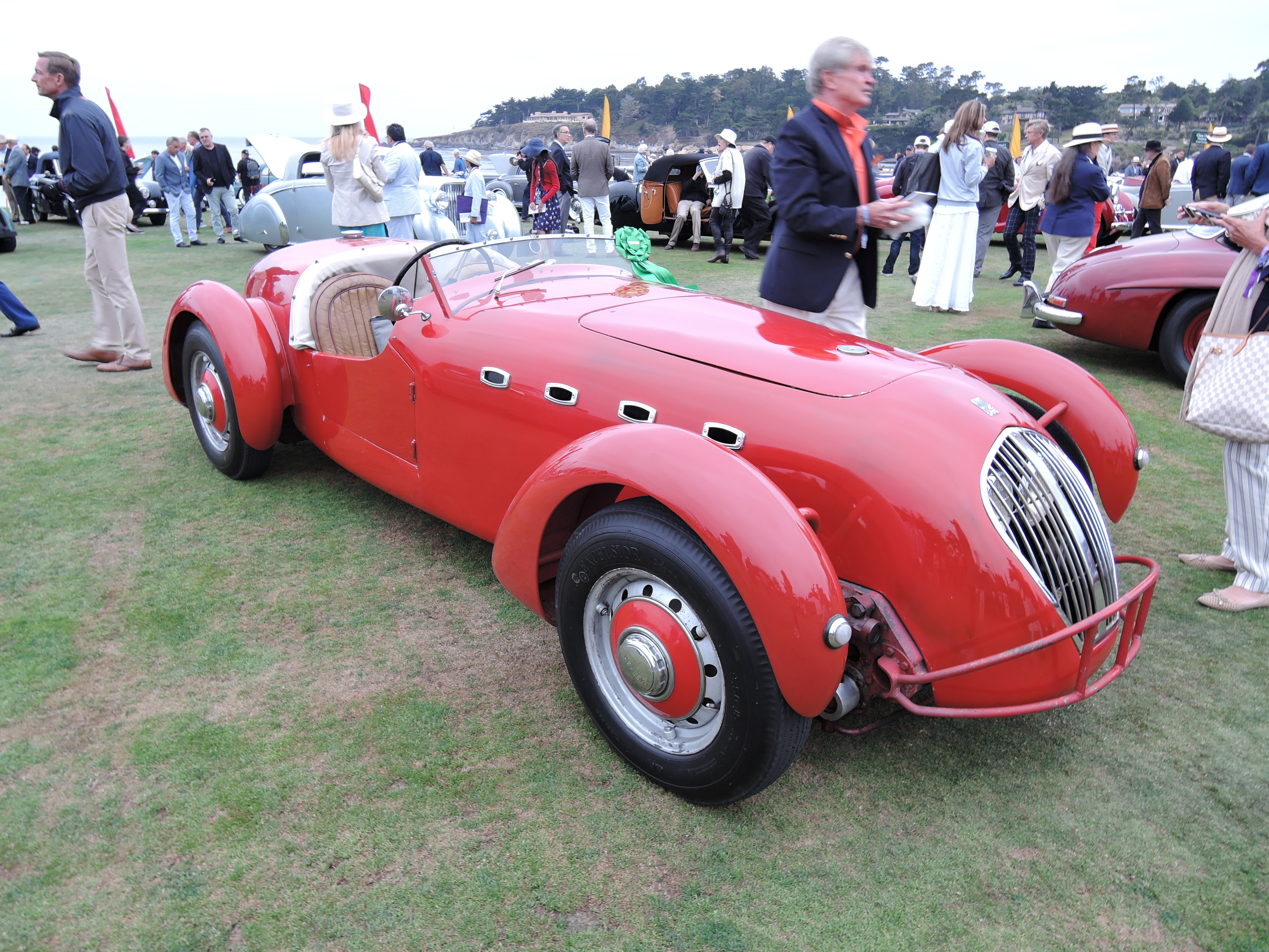 red 1949 Healey Silverstone Sports Car - Pebble Beach Concours d'Elegance 2017
