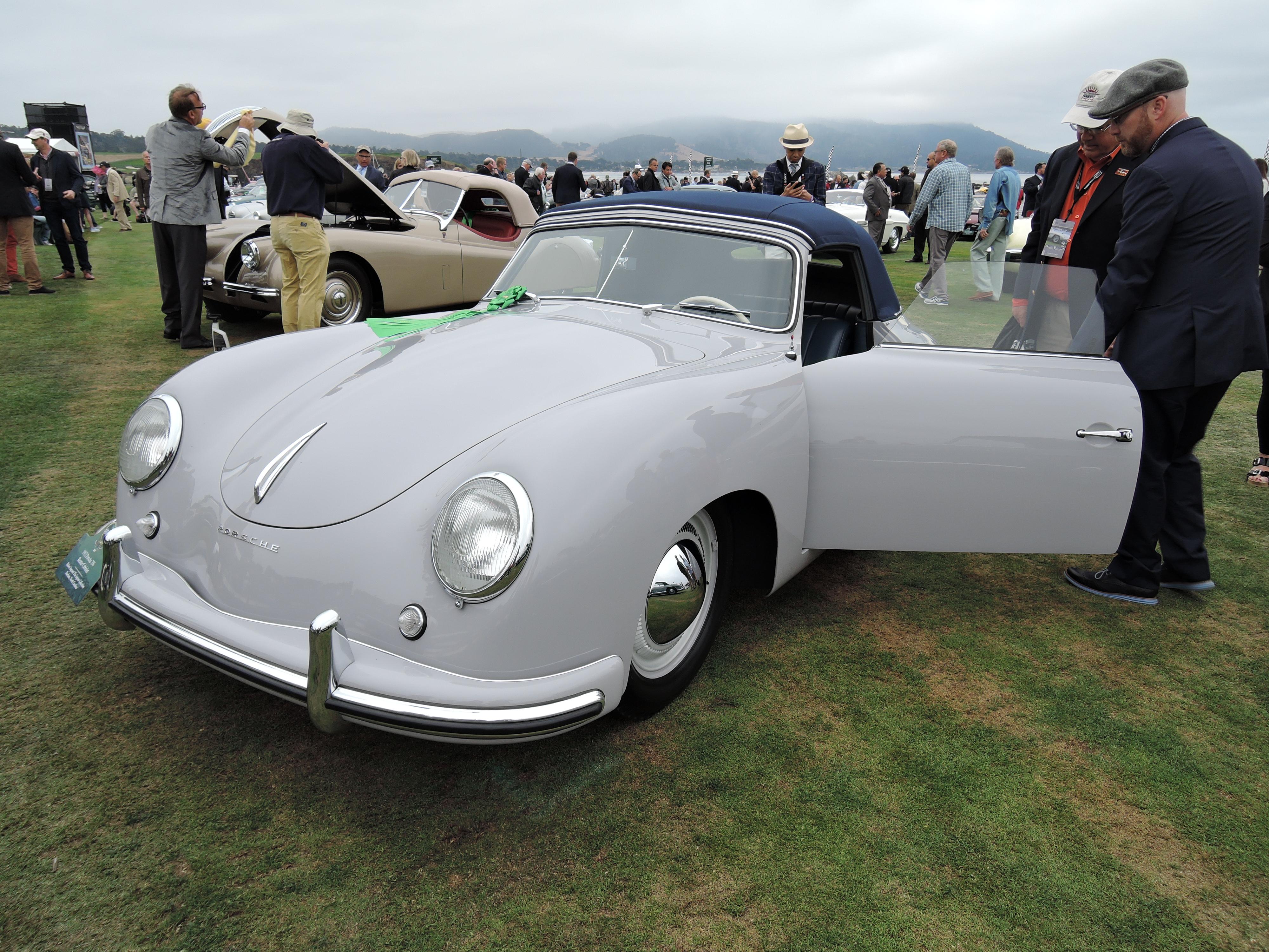 gray 1952 Porsche 356 Reutter Cabriolet - Pebble Beach Concours d'Elegance 2017