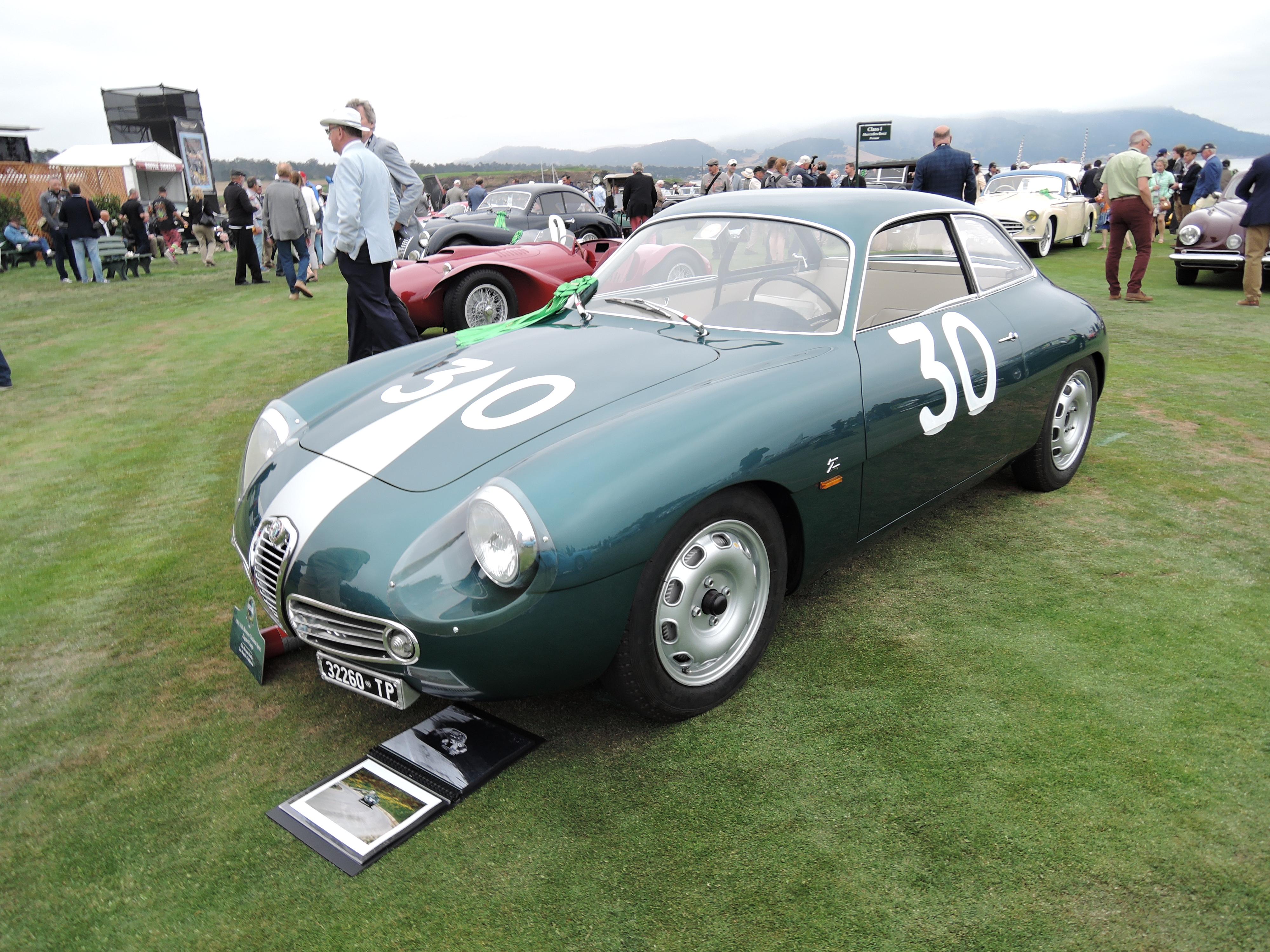 green 1961 Alfa Romeo Giulietta Sprint Zagato Coupe - Pebble Beach Concours d'Elegance 2017