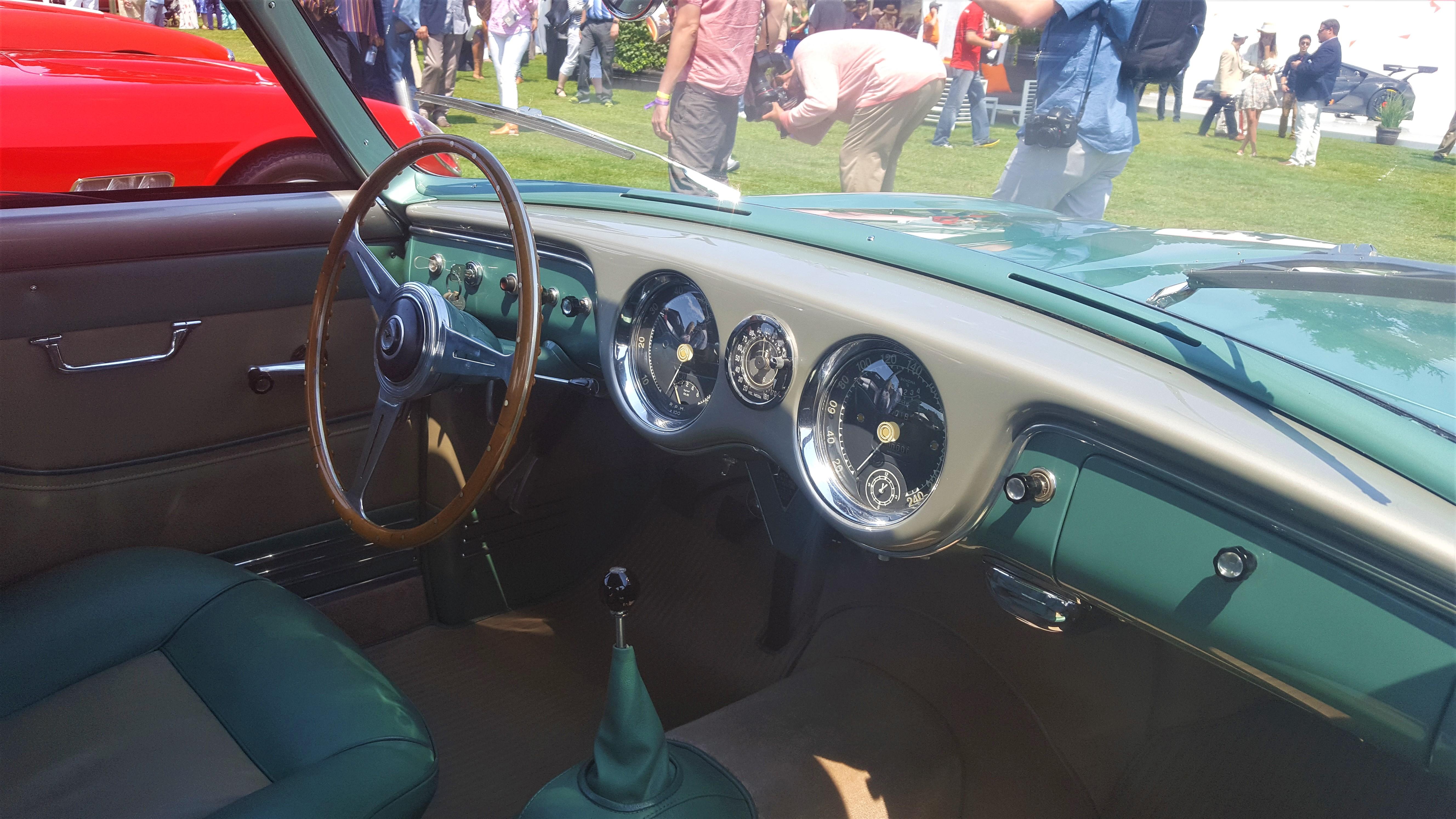 interior green/silver 1952 Ferrari 342 America - The Quail 2017