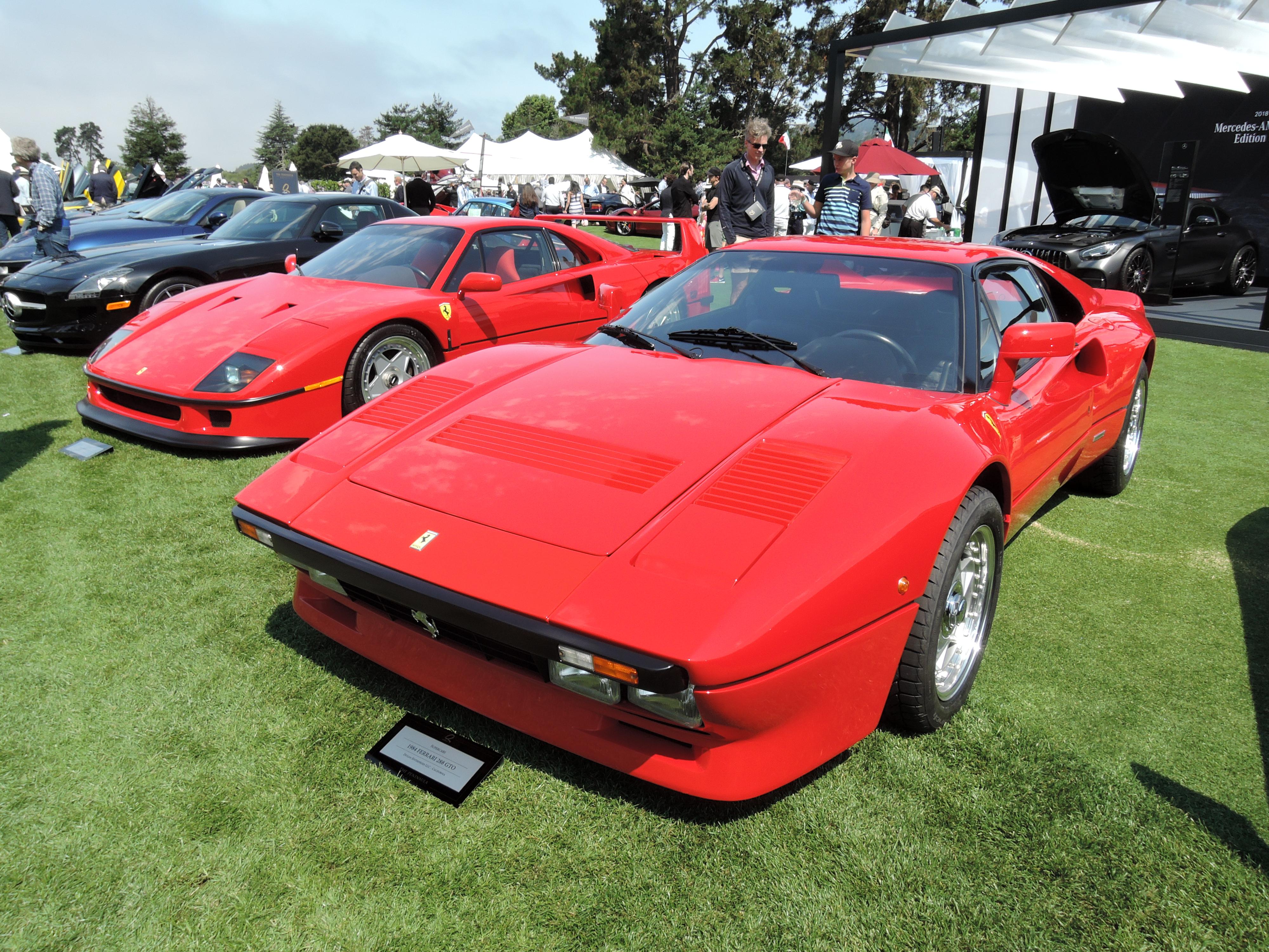 red 1984 Ferrari 288 GTO - The Quail 2017